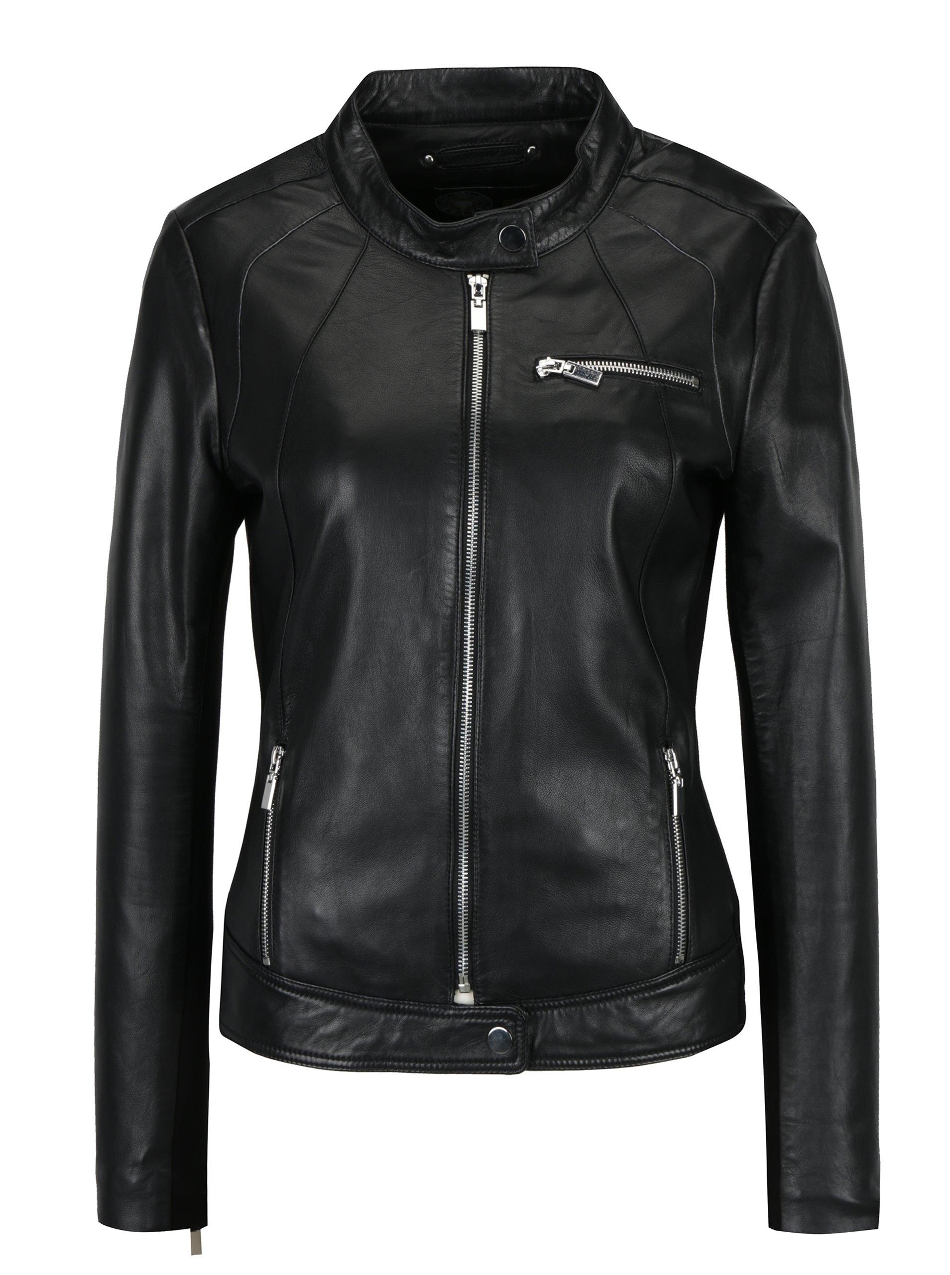Černá dámská kožená bunda KARA Di Maggio