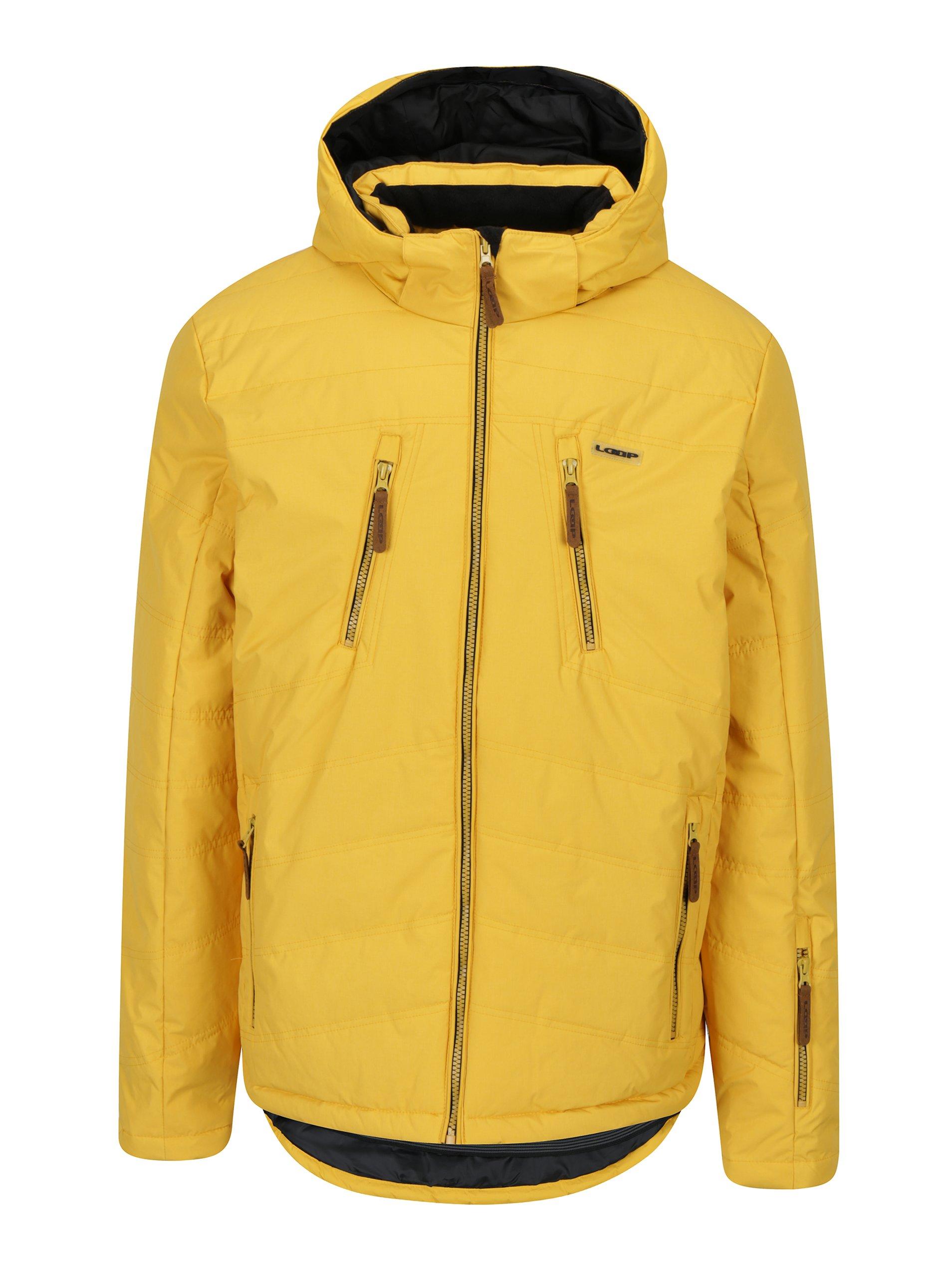 Žlutá pánská lyžařská funkční voděodolná bunda LOAP Fallon
