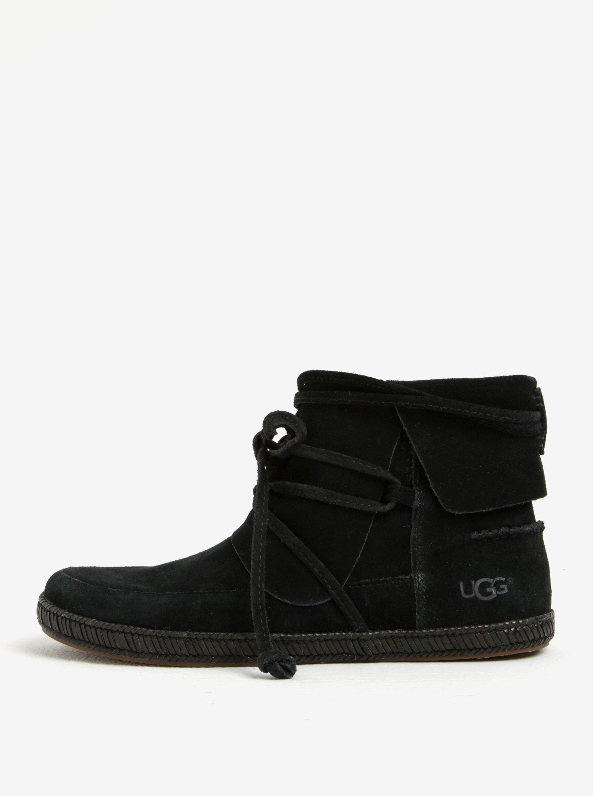 bdc32e1c39e Černé zimní semišové kotníkové voděodolné boty UGG Reid