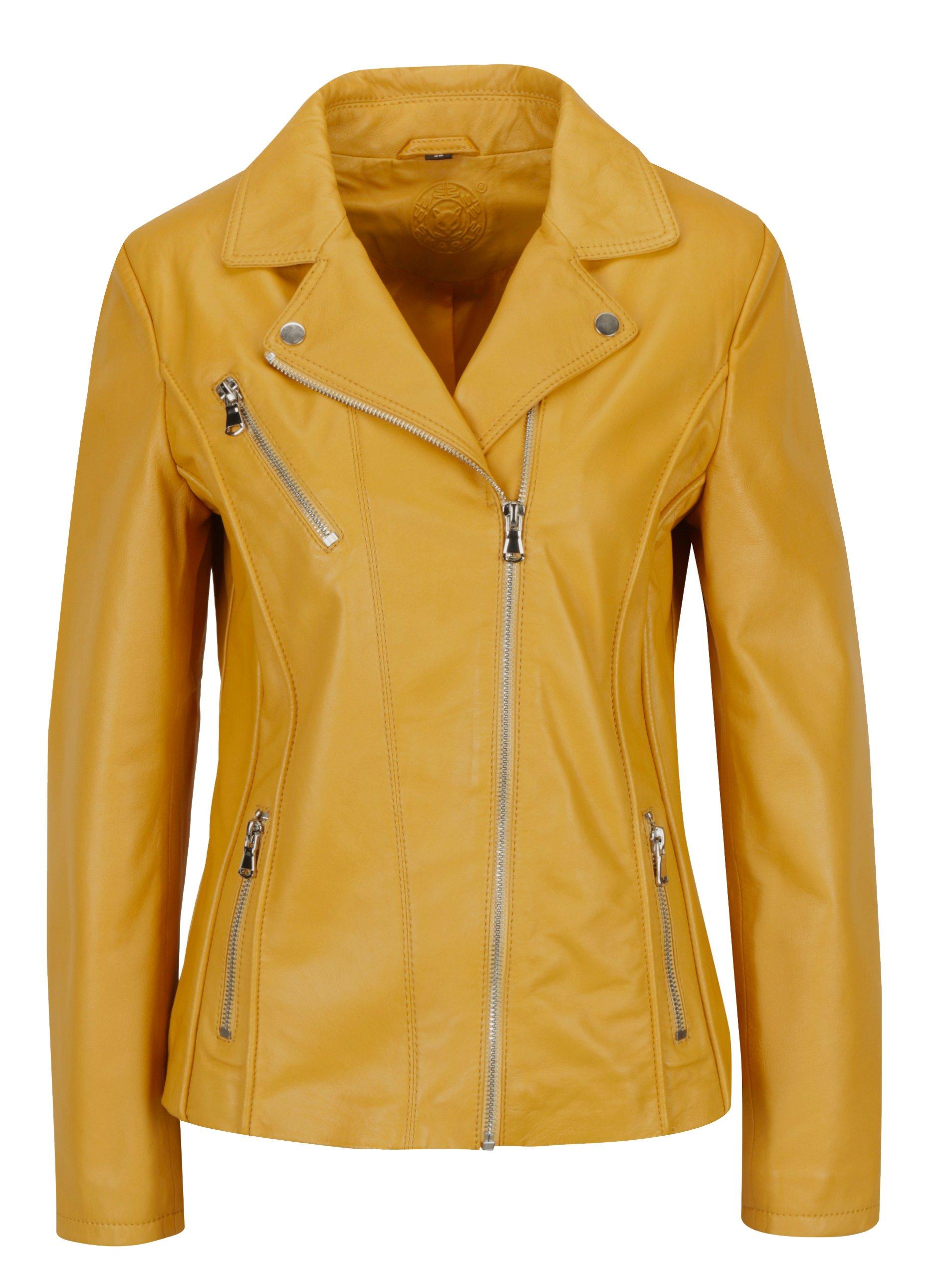 Žlutý dámský kožený křivák KARA Kenya