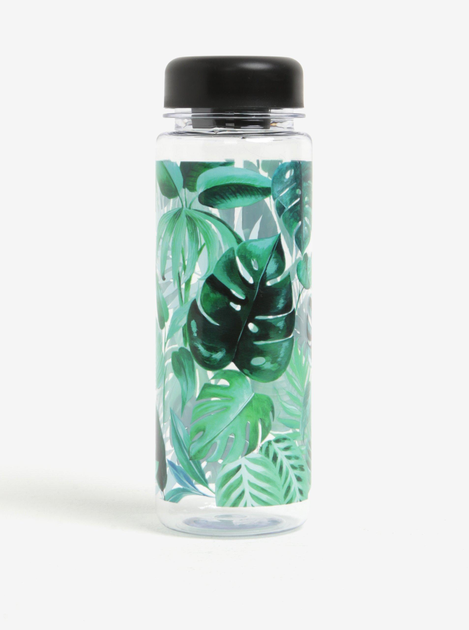 Zelená láhev na vodu s motivem listů Sass & Belle Botanical Jungle