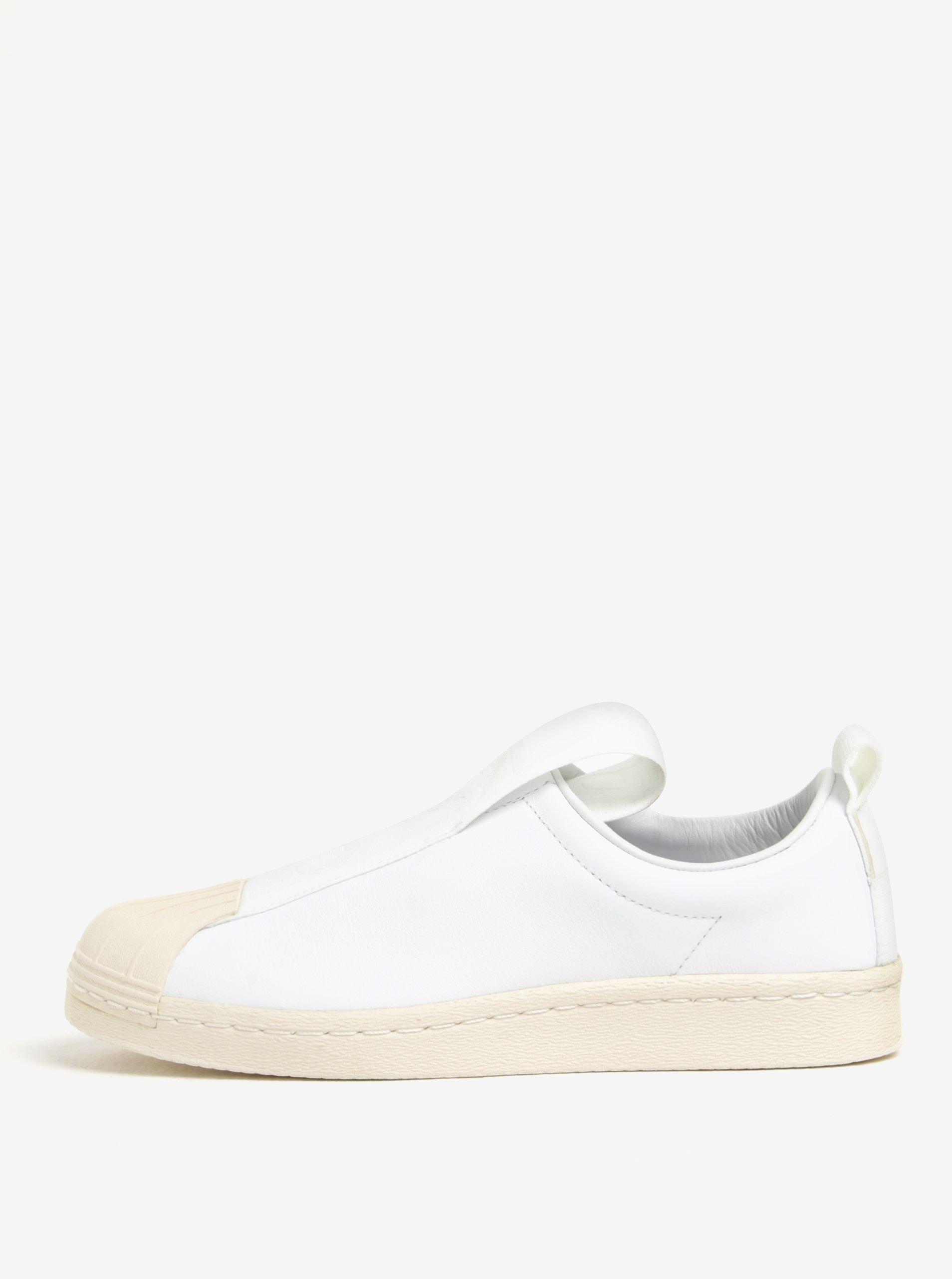 Bílé dámské kožené slip on adidas Originals Superstar