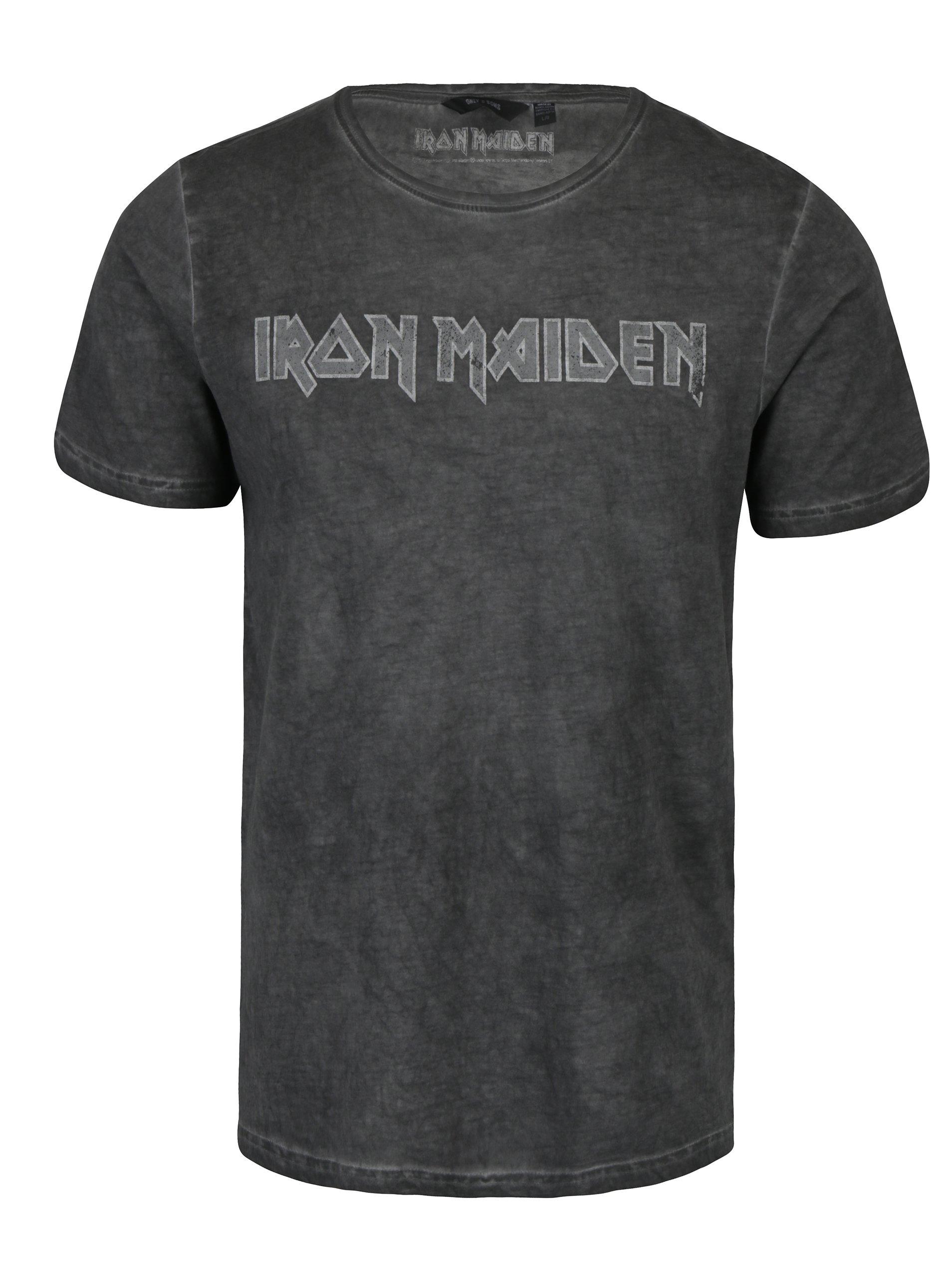Tmavě šedé tričko s potiskem ONLY & SONS Band