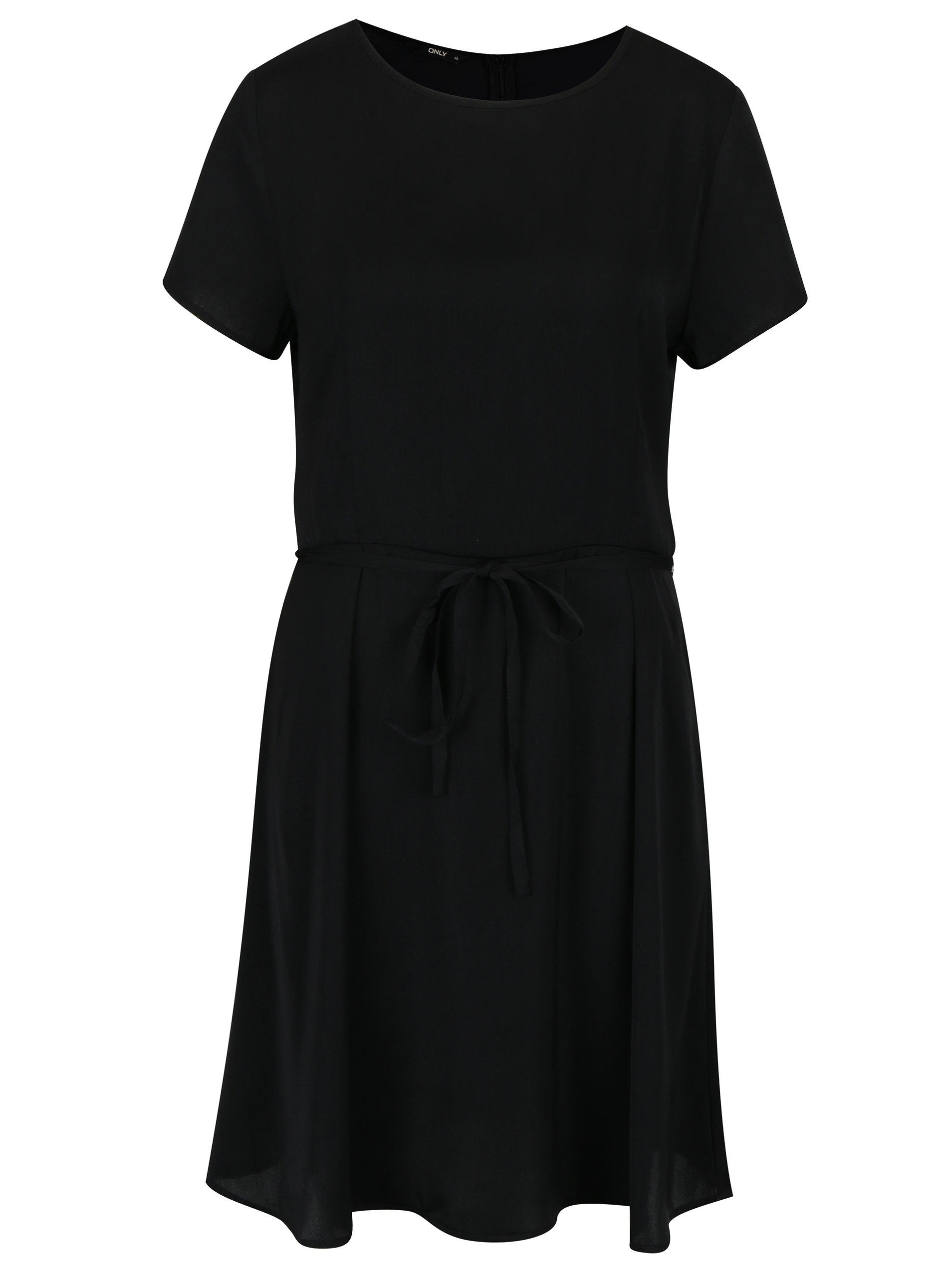 Černé šaty s krátkým rukávem ONLY Riga