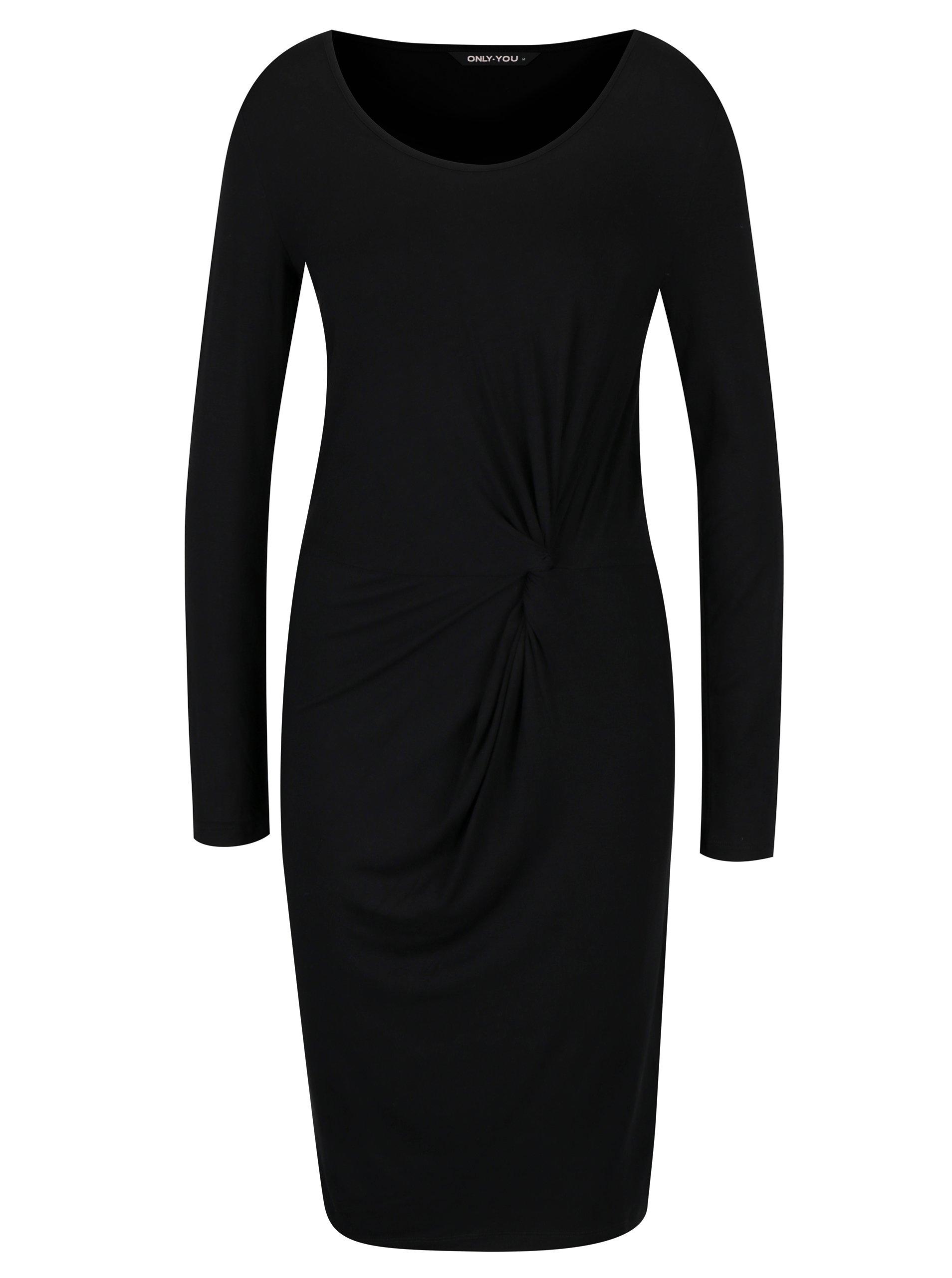 7191fc6182a9 Čierne šaty s nazberkaním ONLY Rina
