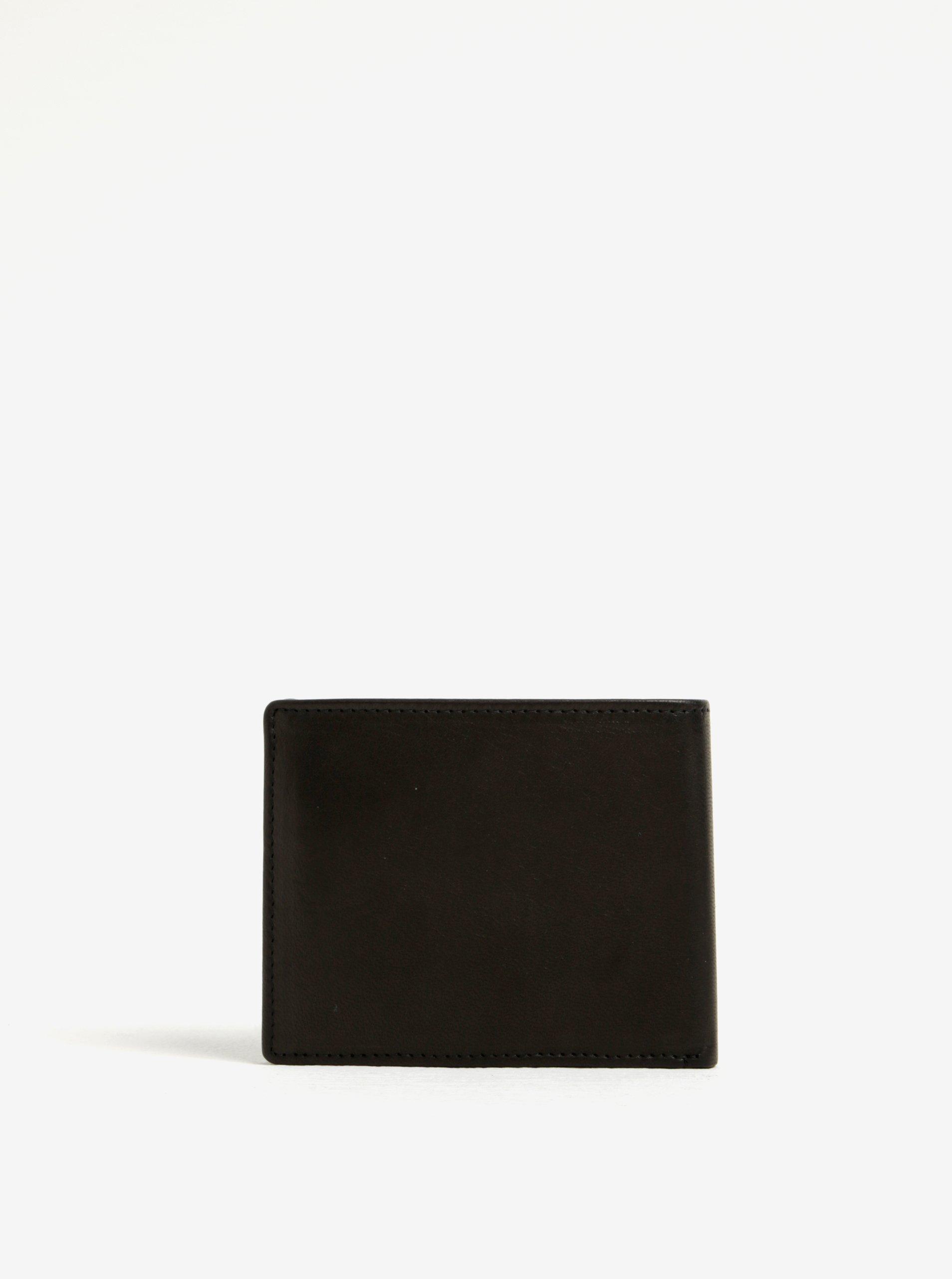Černá pánská kožená peněženka GANT
