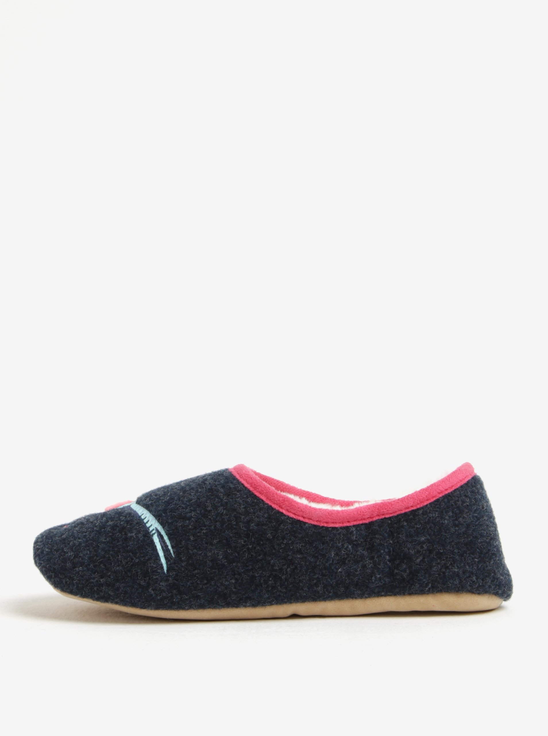 Tmavě modré papuče s bažantem Tom Joule