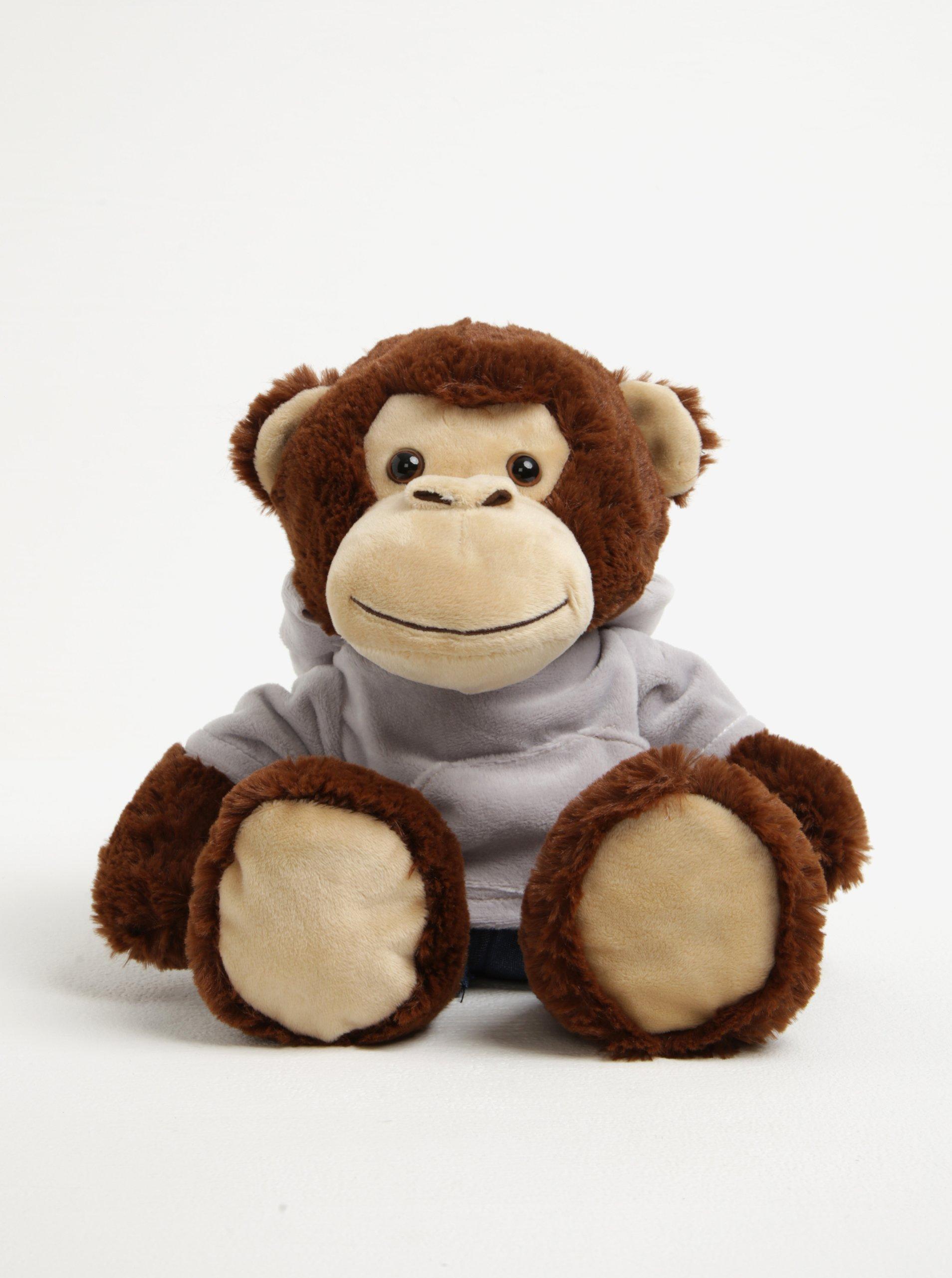 Hnědý nahřívací plyšák ve tvaru opice s levandulovou vůní Something Special