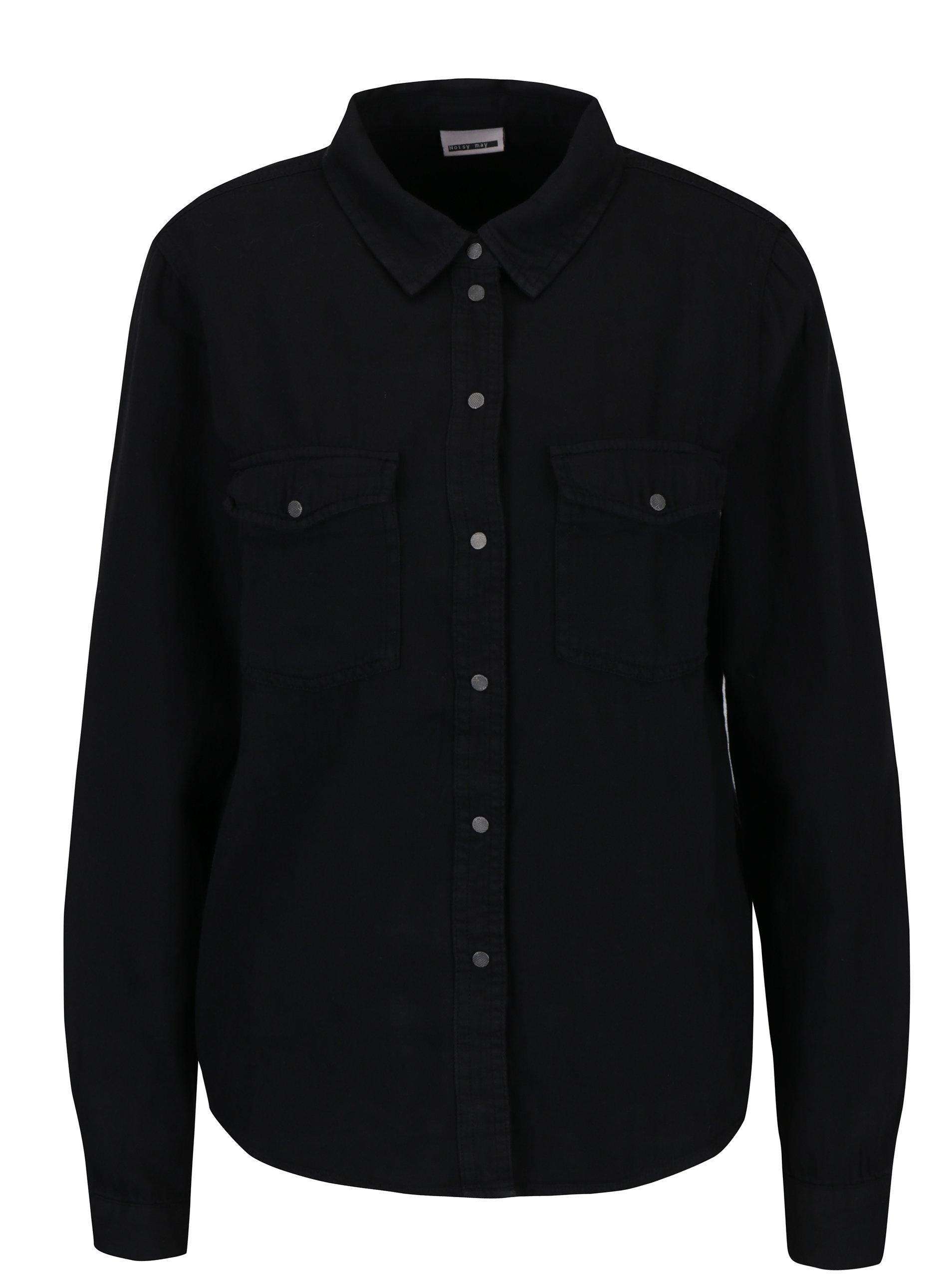 Čierna košeľa s vreckami Noisy May Kendall