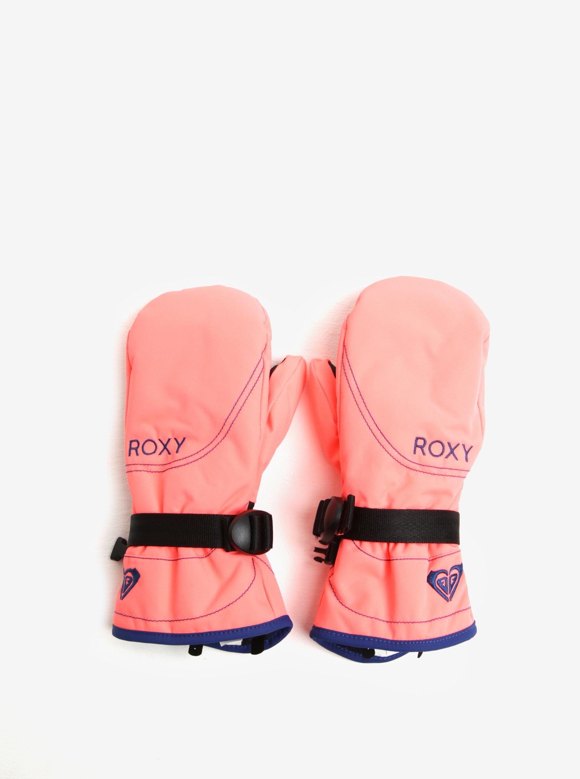 Neonově růžové holčičí funkční palčáky Roxy Jett