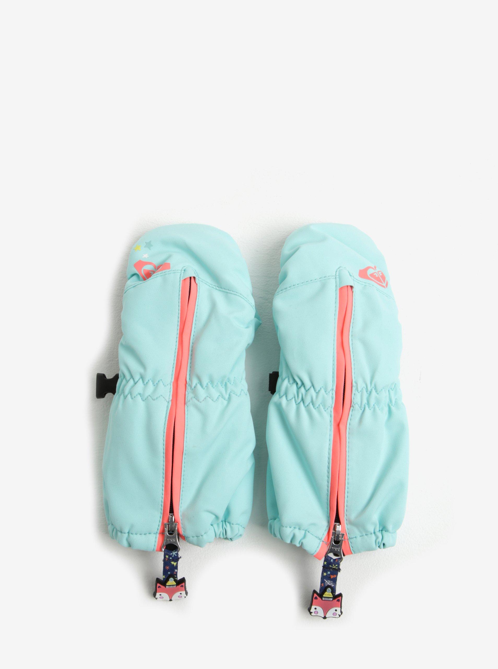 Mentolové holčičí funkční zimní palčáky Roxy Snow´s Up