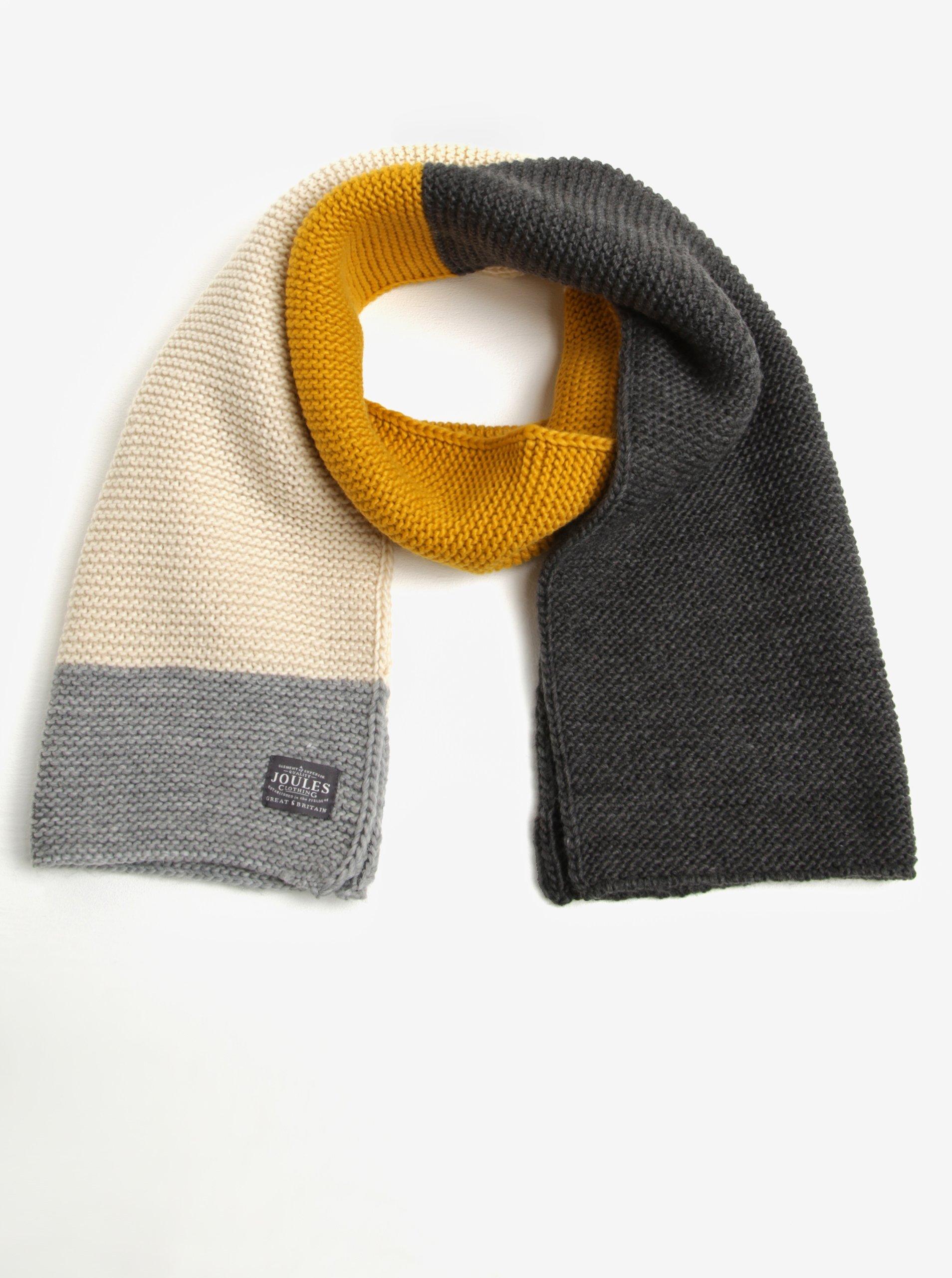 Žluto-šedá dámská pletená šála Tom Joule Annis