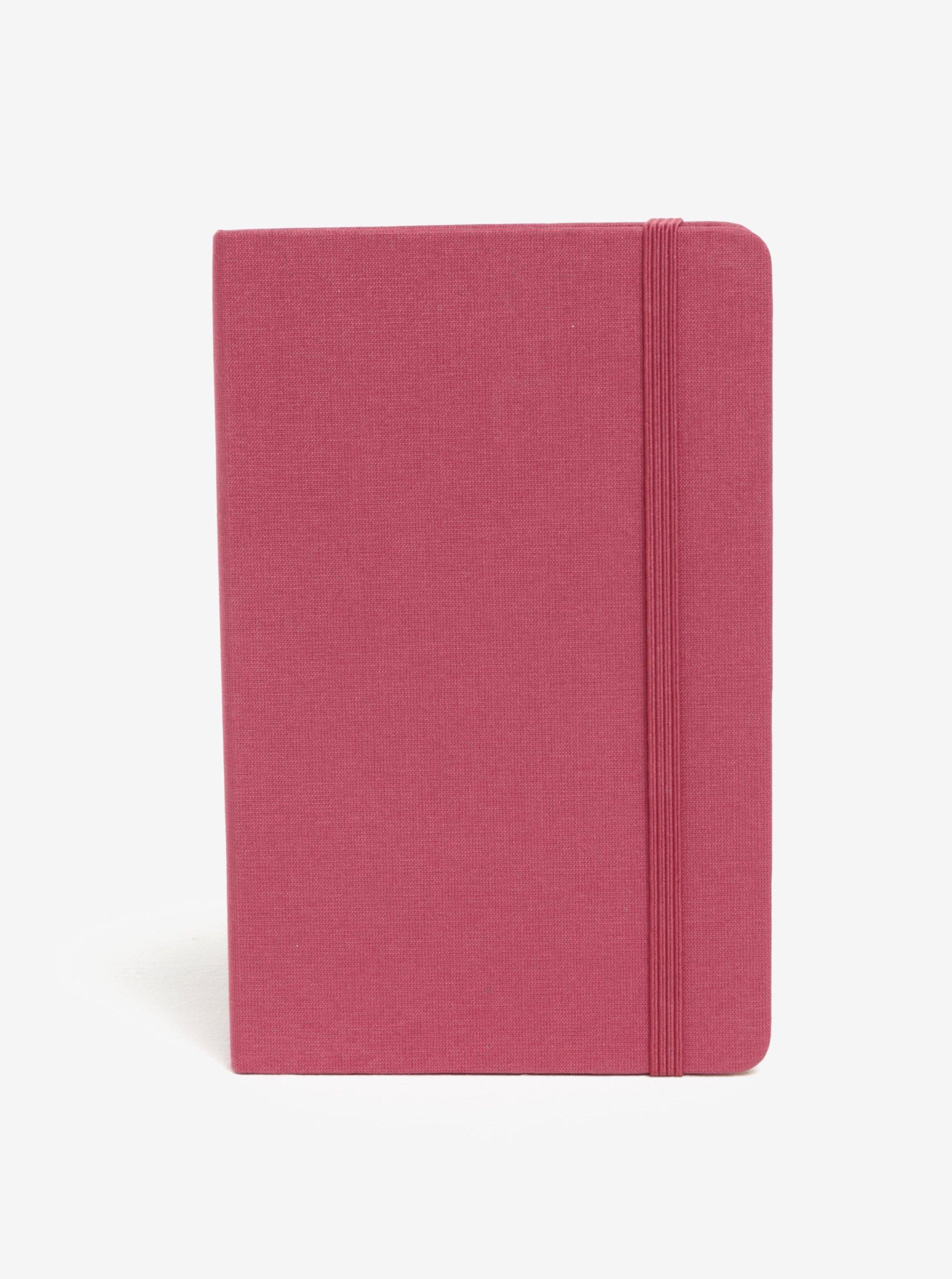 Růžový linkovaný/nelinkovaný zápisník v pevné vazbě Moleskine
