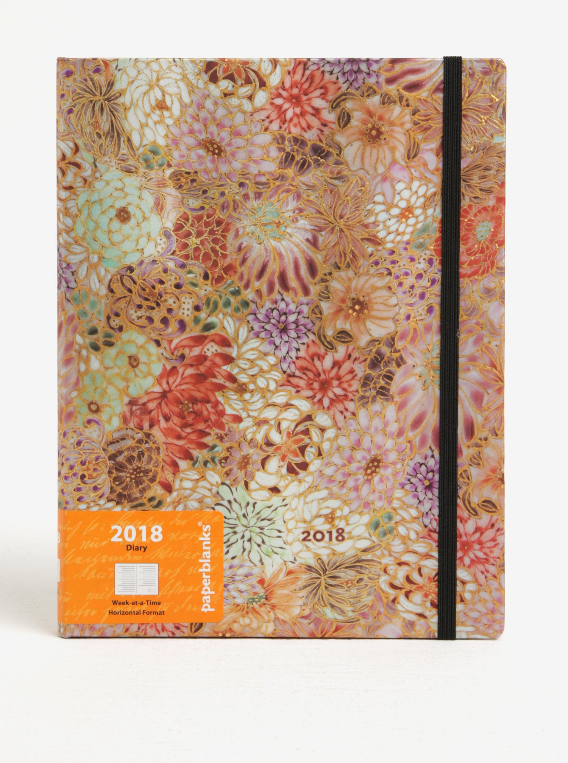 Růžový vzorovaný 2018 Paperblanks Kikka