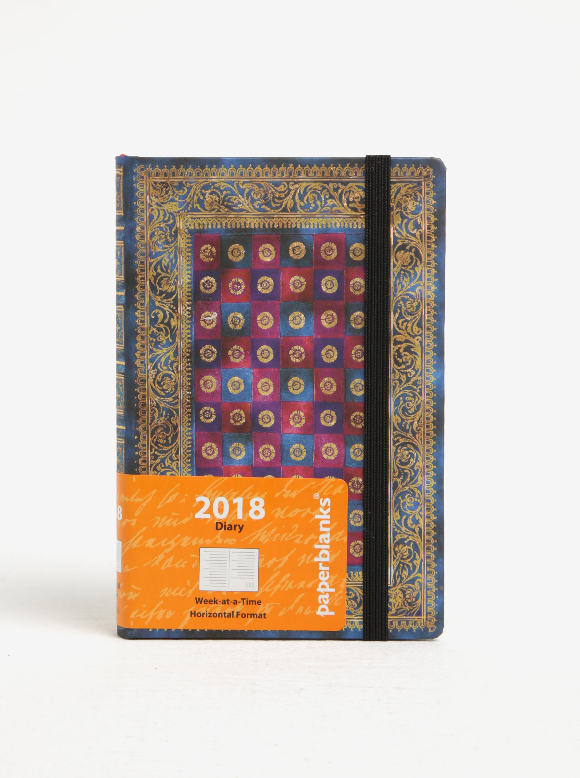 Modrý vzorovaný diář 2018 Paperblanks Celeste