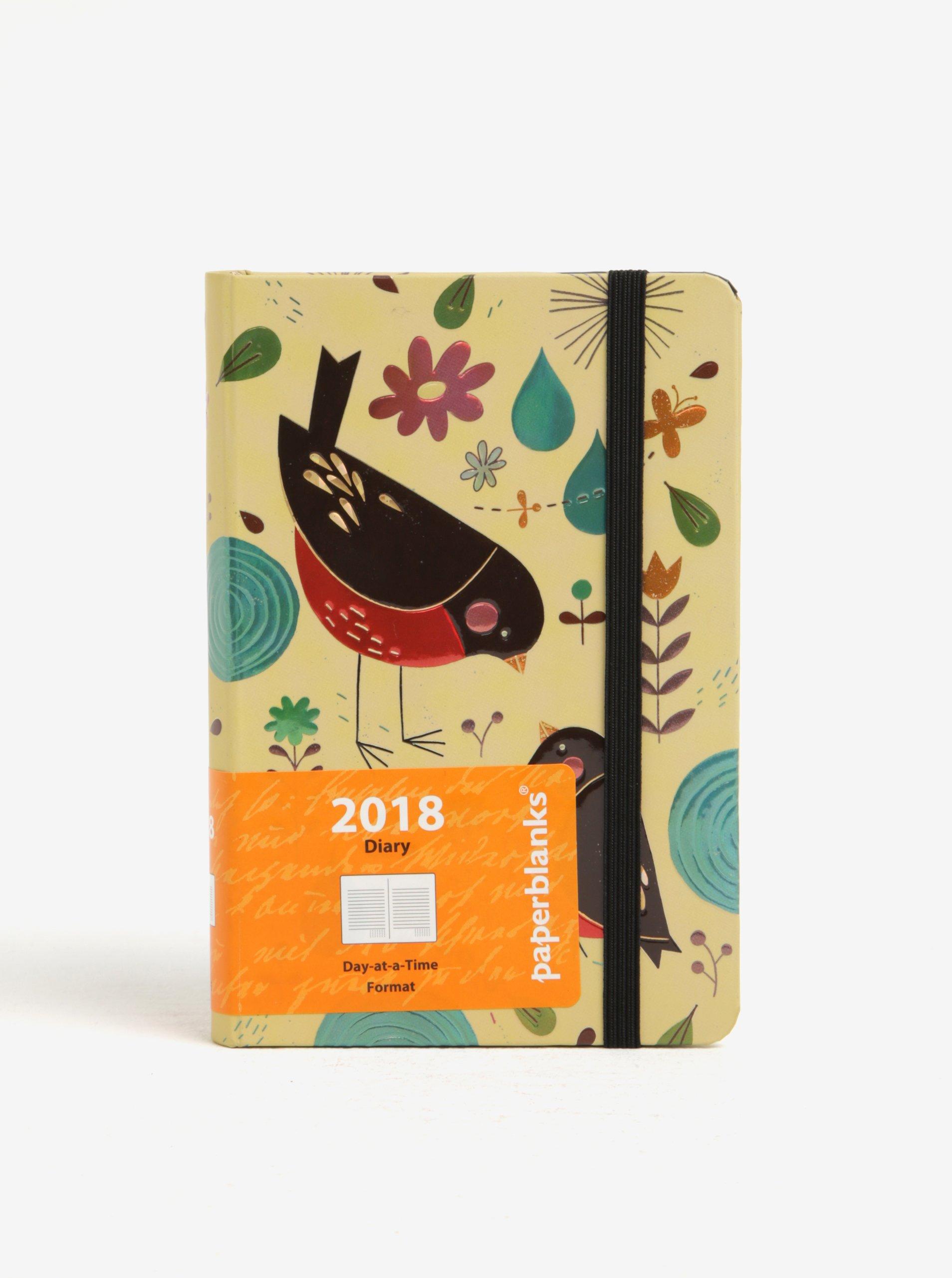 Béžový diář 2018 Paperblanks Mother Robin