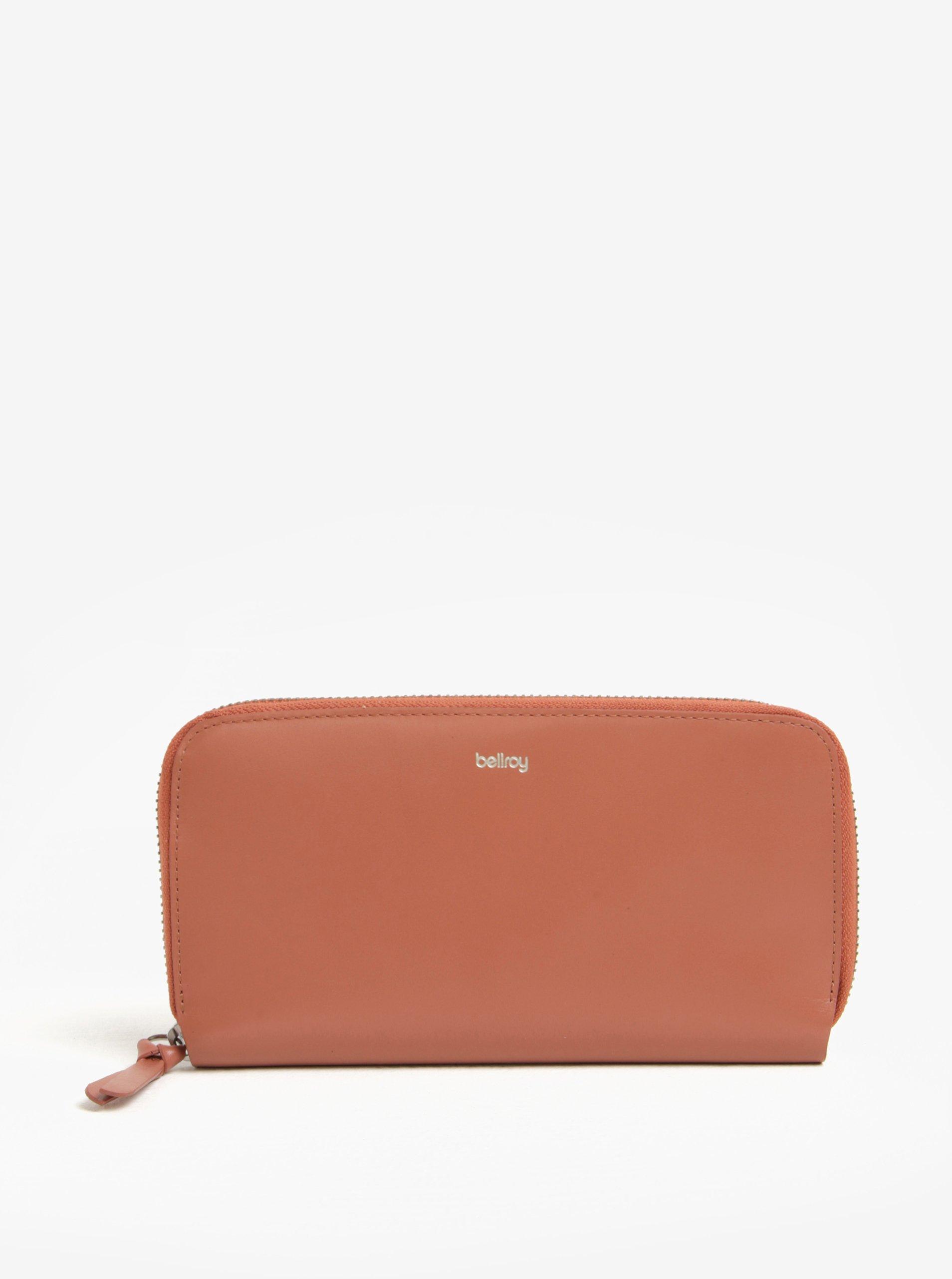 Růžová dámská velká kožená peněženka Bellroy Folio