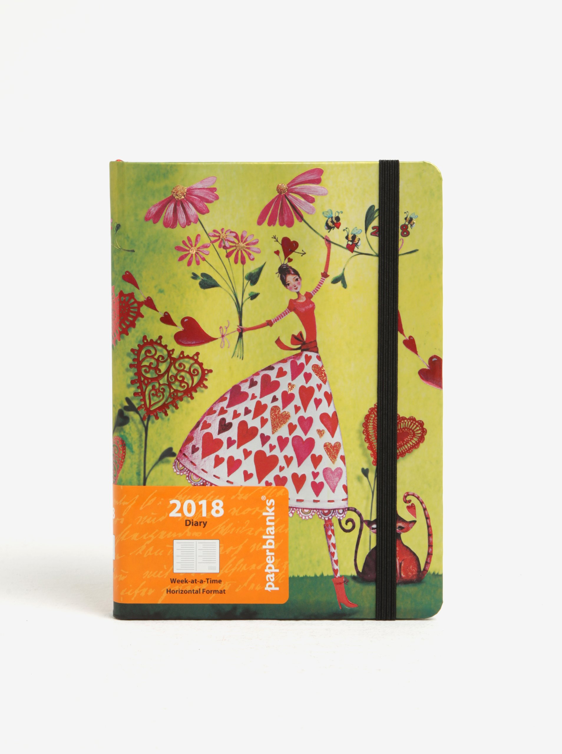 Zelený diář 2018 Paperblanks Valentina