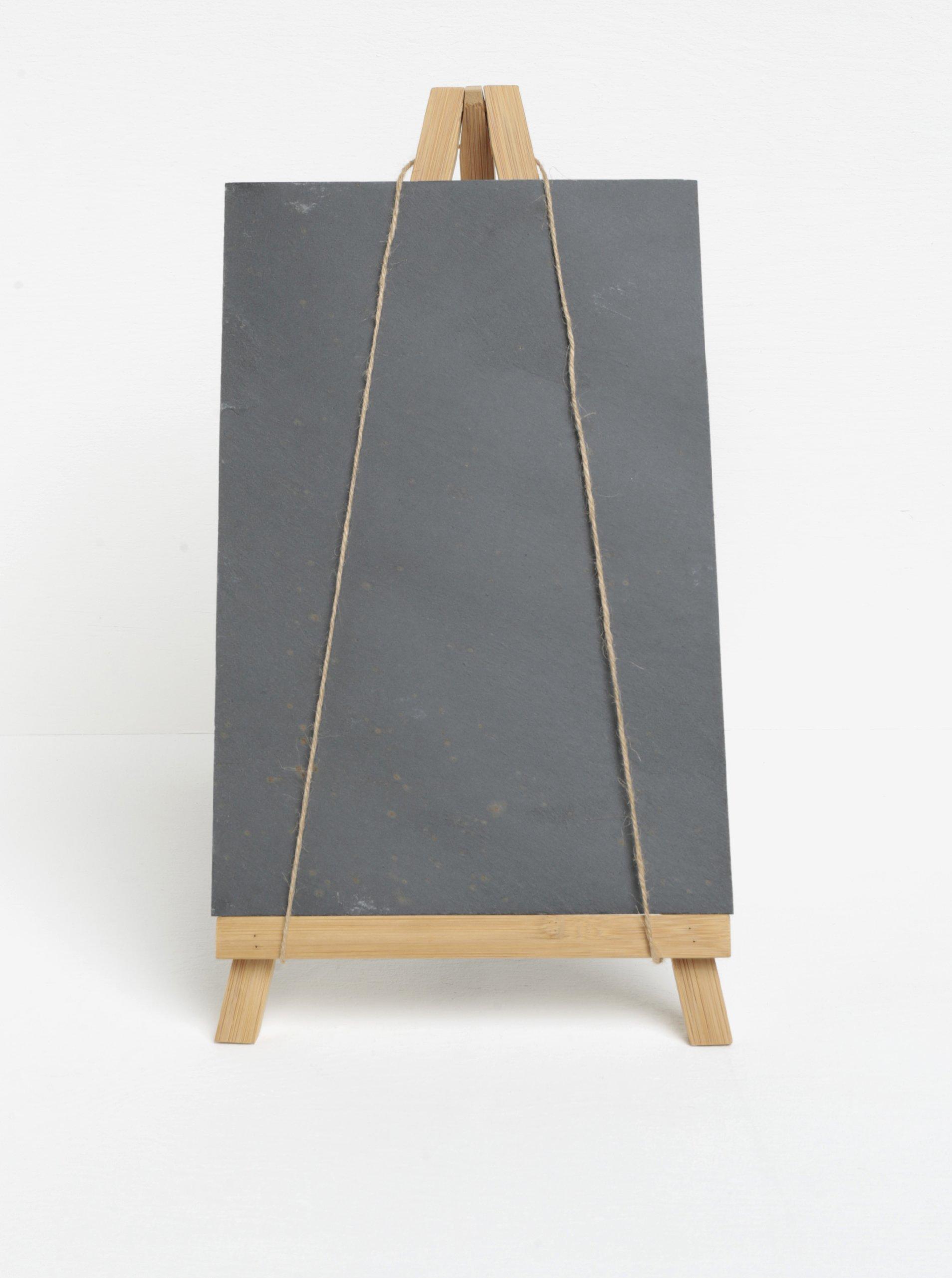 Bambusový stojan s křídovou tabulí z břidlice SIFCON