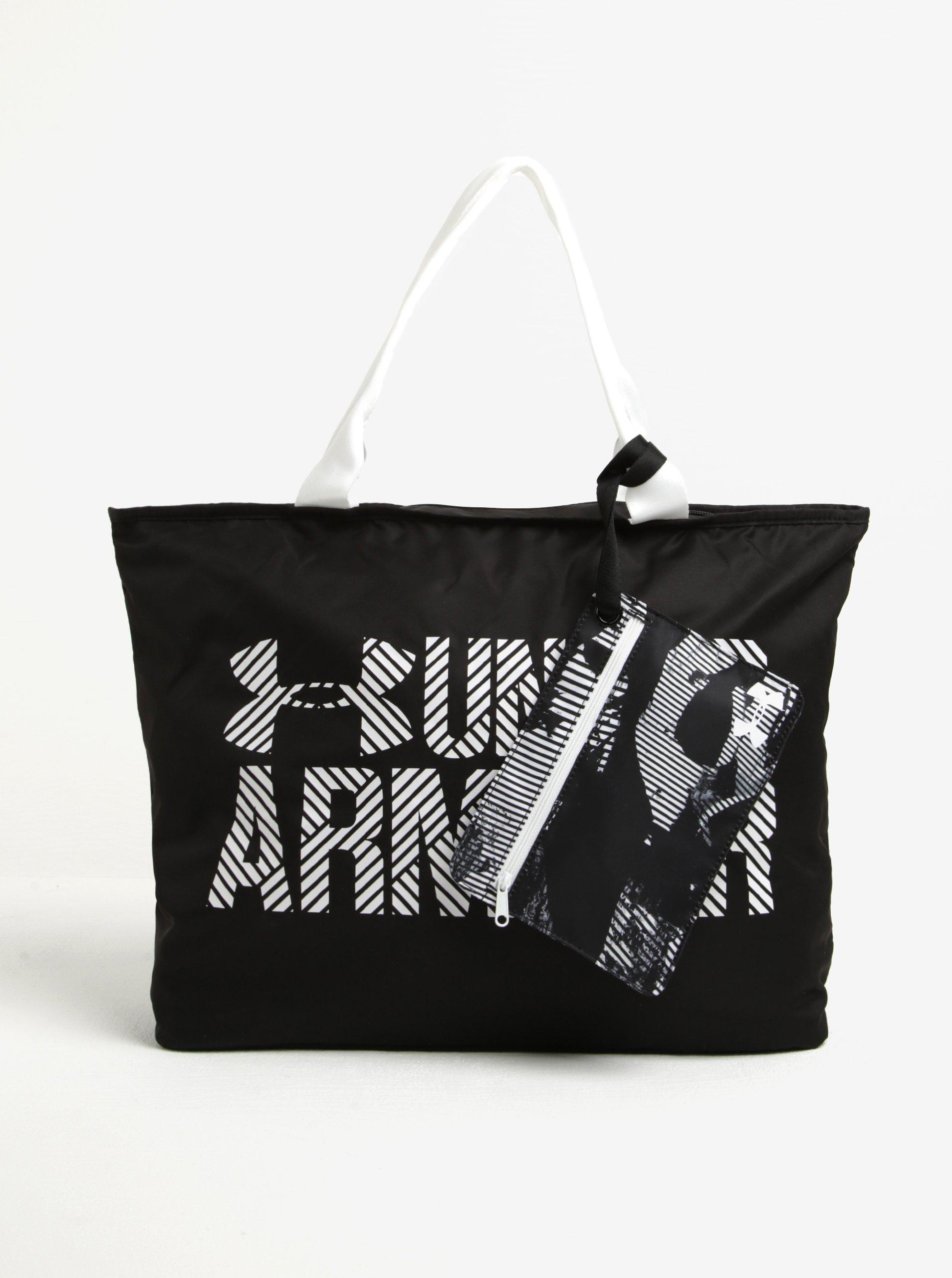 Bílo-černá dámská voděodolná taška s pouzdrem Under Armour