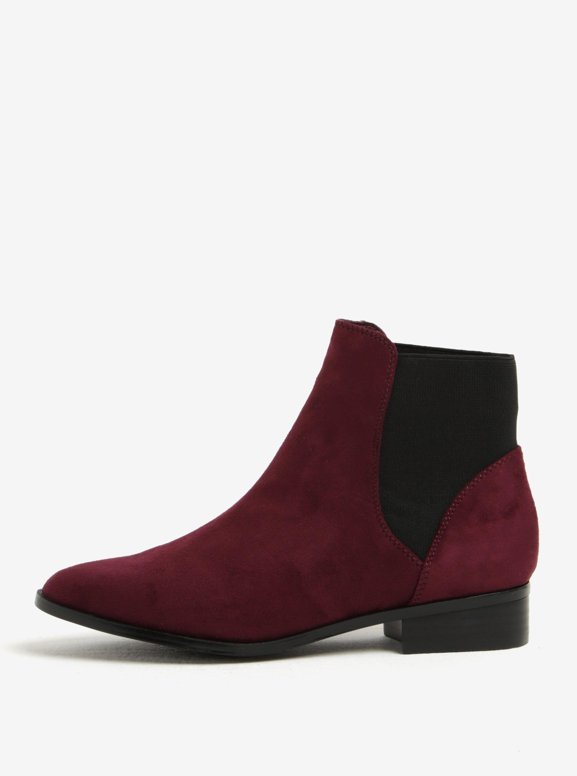 Vínové dámské chelsea boty v semišové úpravě ALDO Nydia