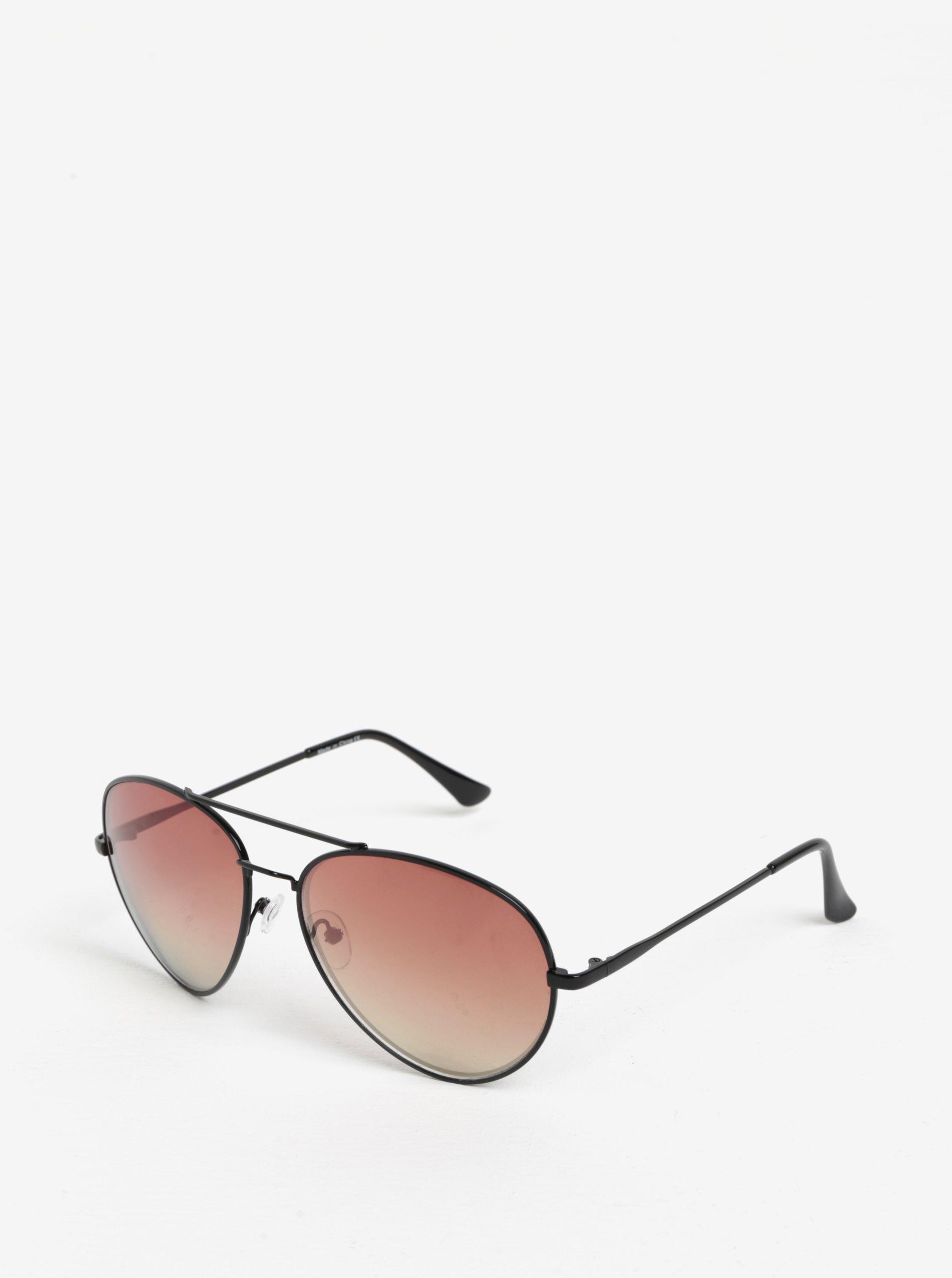 Černé sluneční brýle s růžovými skly MISSGUIDED