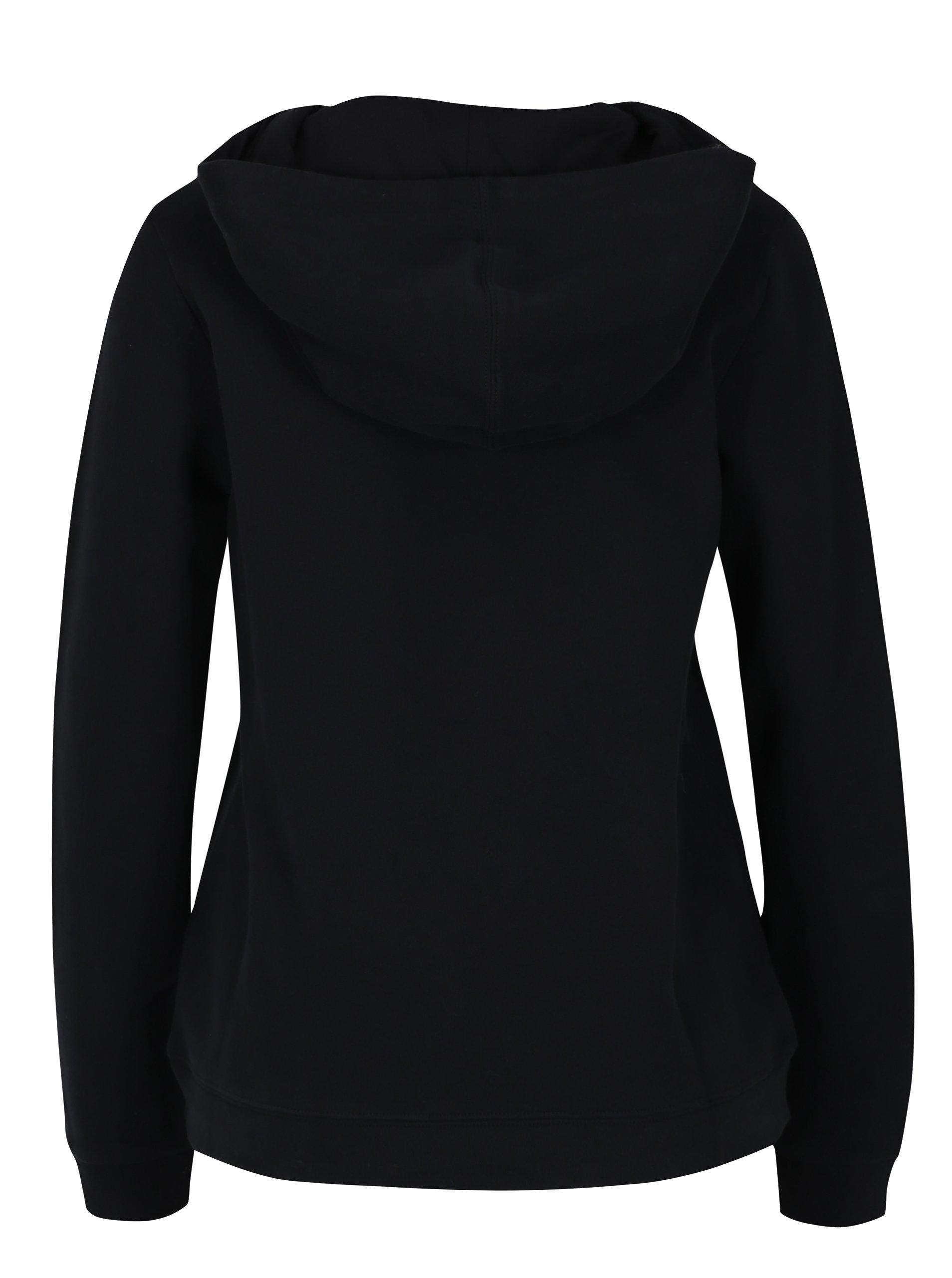 Černá dámská mikina s kapucí Calvin Klein Jeans Honor - eleganter.cz 0e7538009e