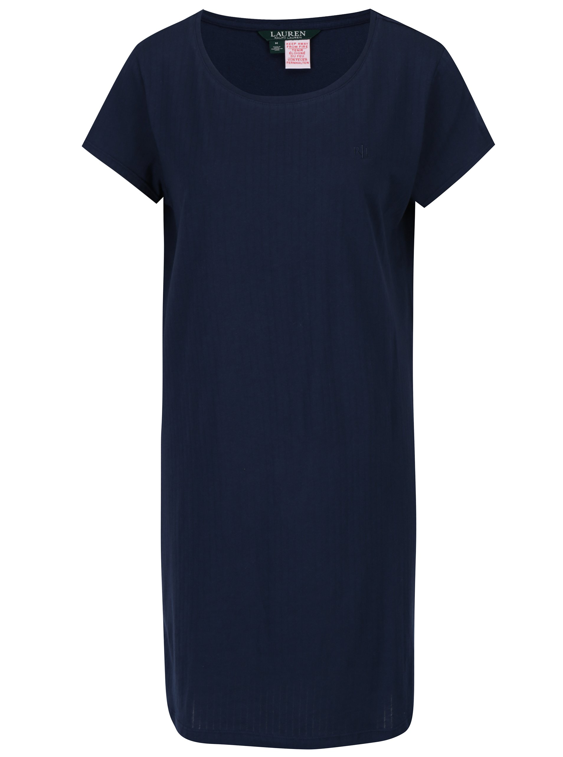 Tmavě modrá noční košile Lauren Ralph Lauren Jacquard