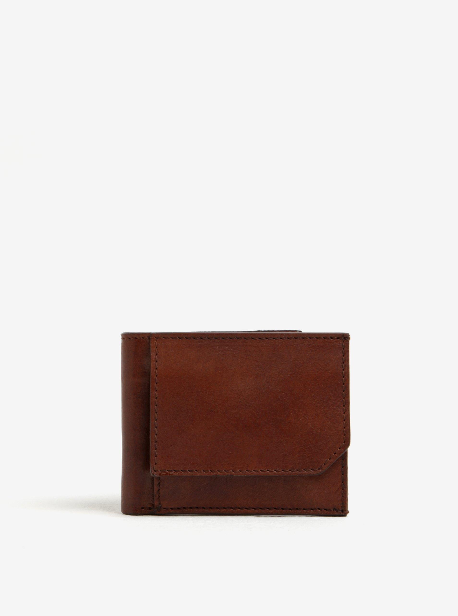 Hnědá pánská kožená peněženka Elega