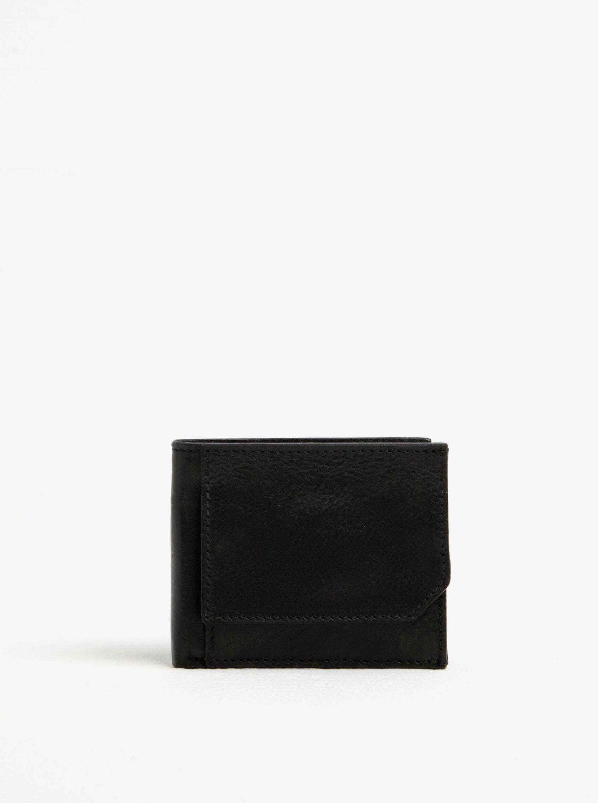 Černá pánská kožená peněženka Elega