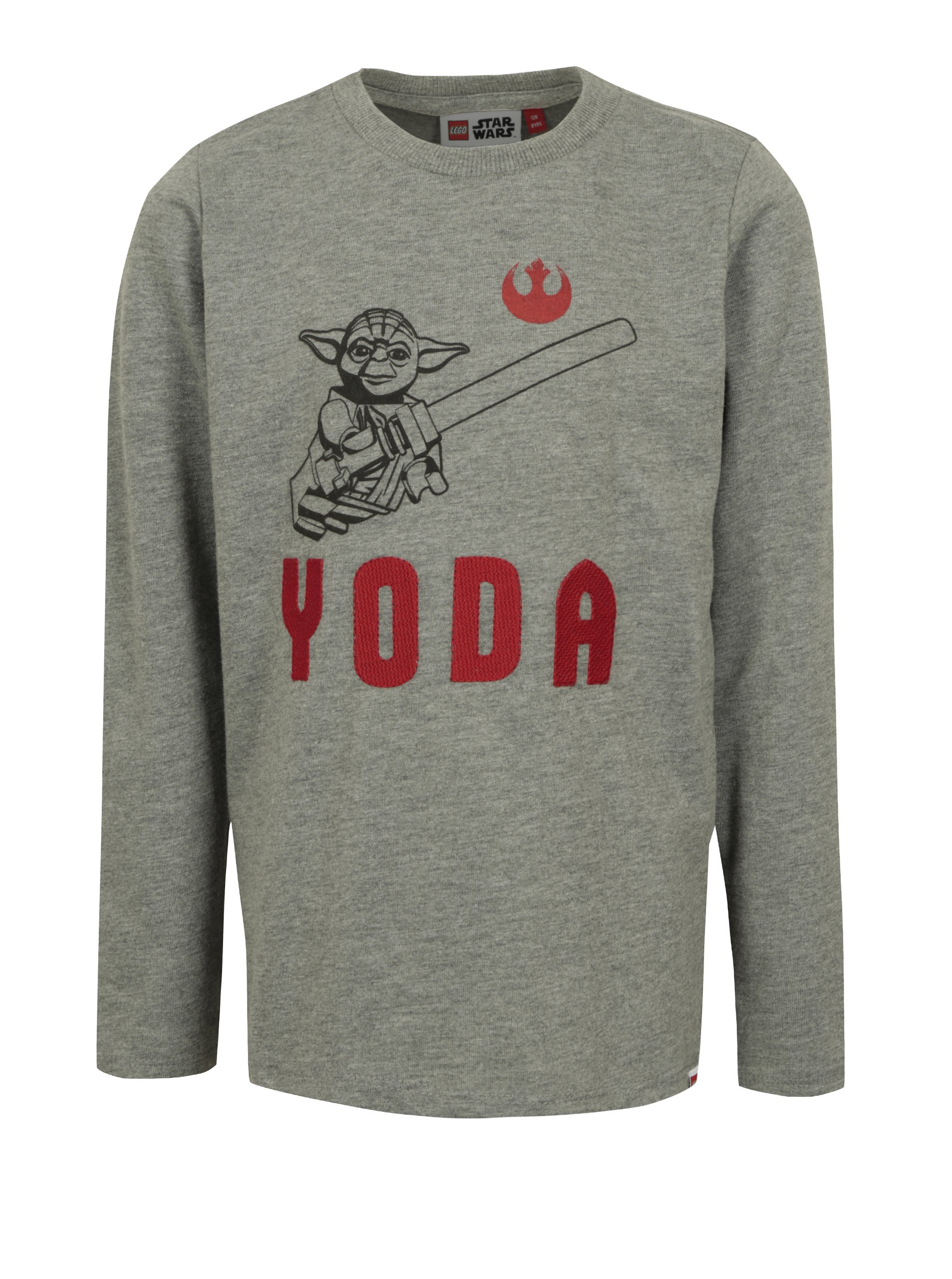 Tmavě šedé klučičí tričko s potiskem a výšivkou Star Wars Lego Wear Teo 0e608b1f33