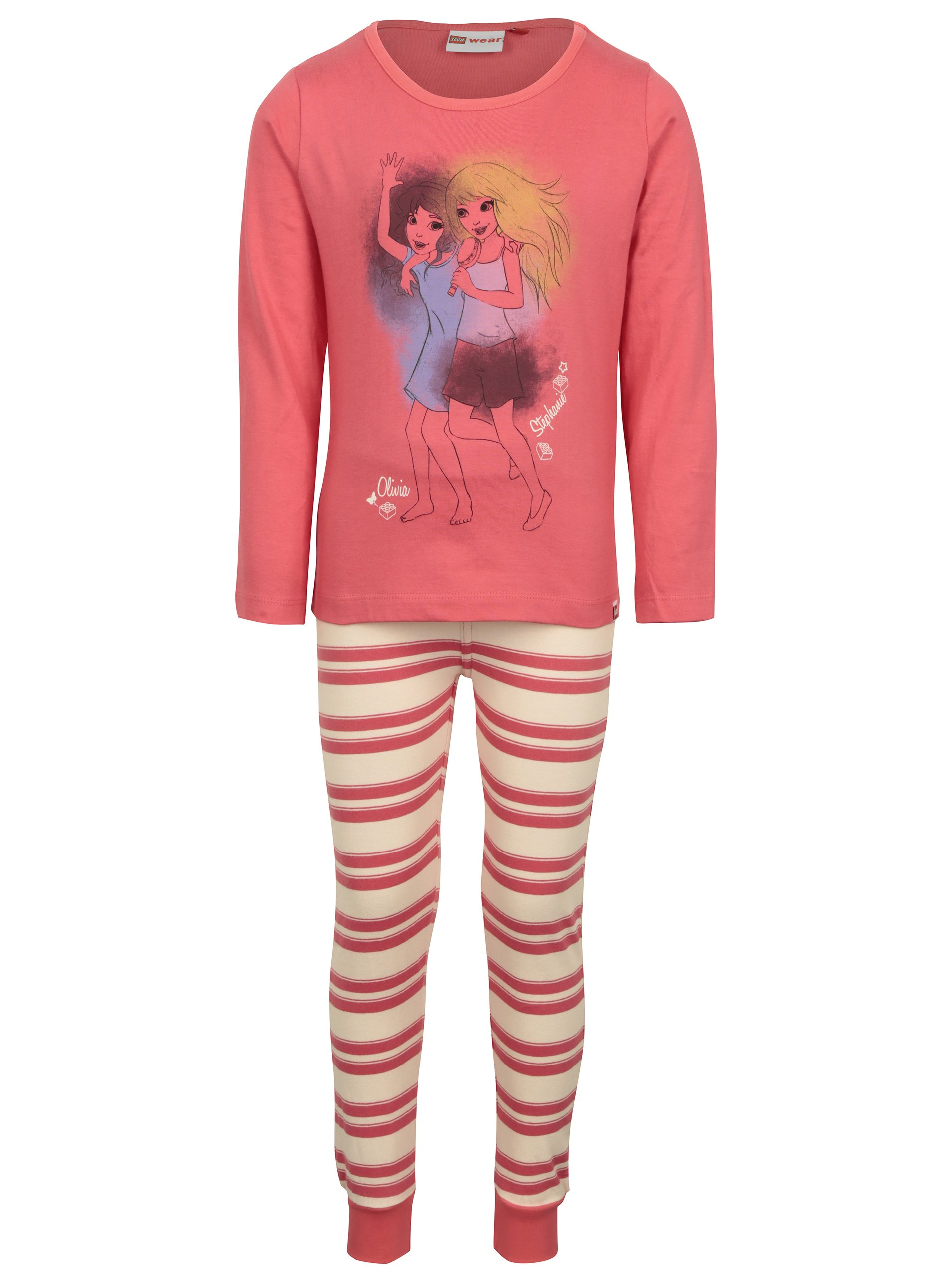 Růžové holčičí pyžamo s potiskem Lego Wear Nevada