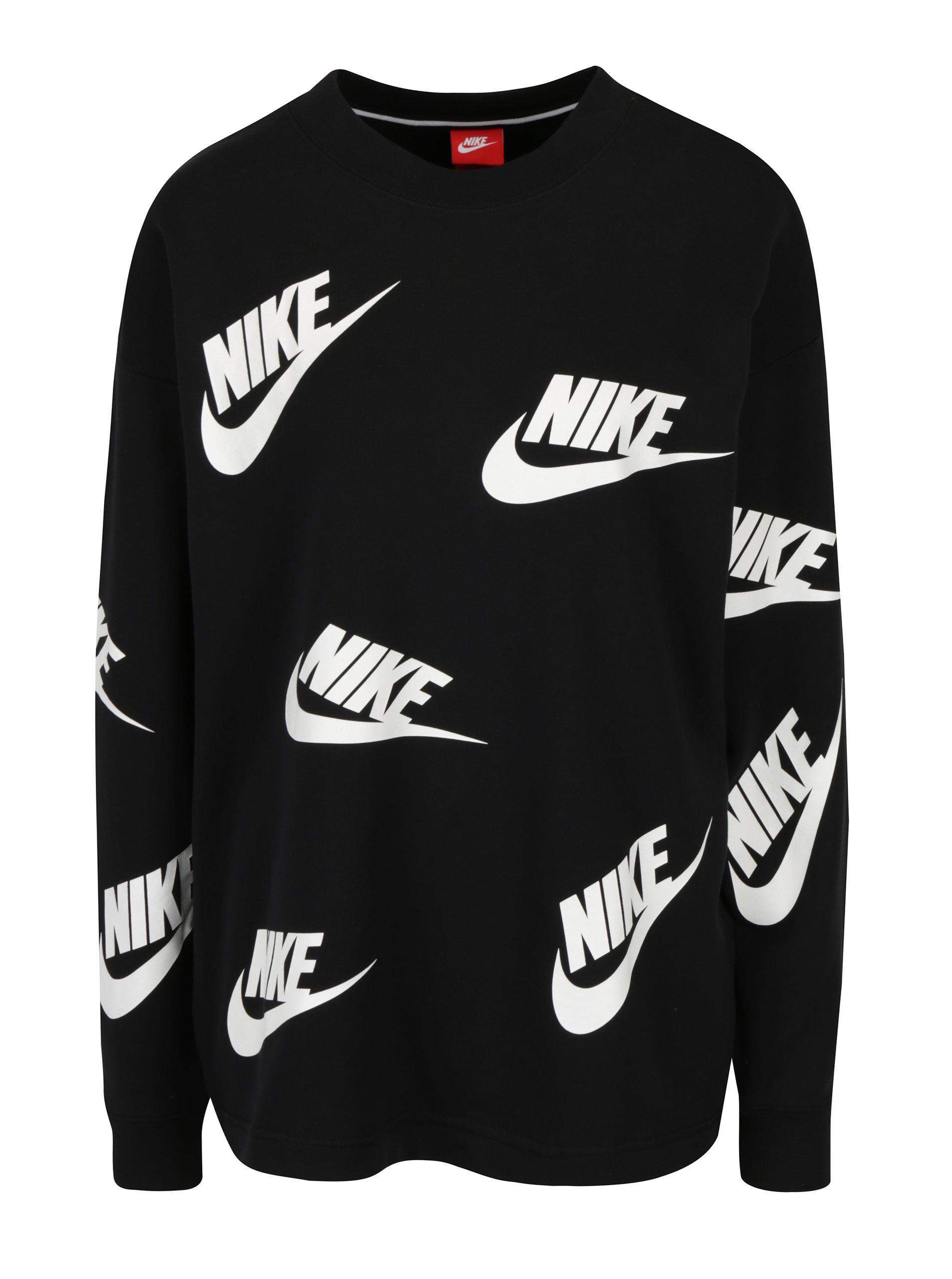 Černá dámská mikina s potiskem Nike