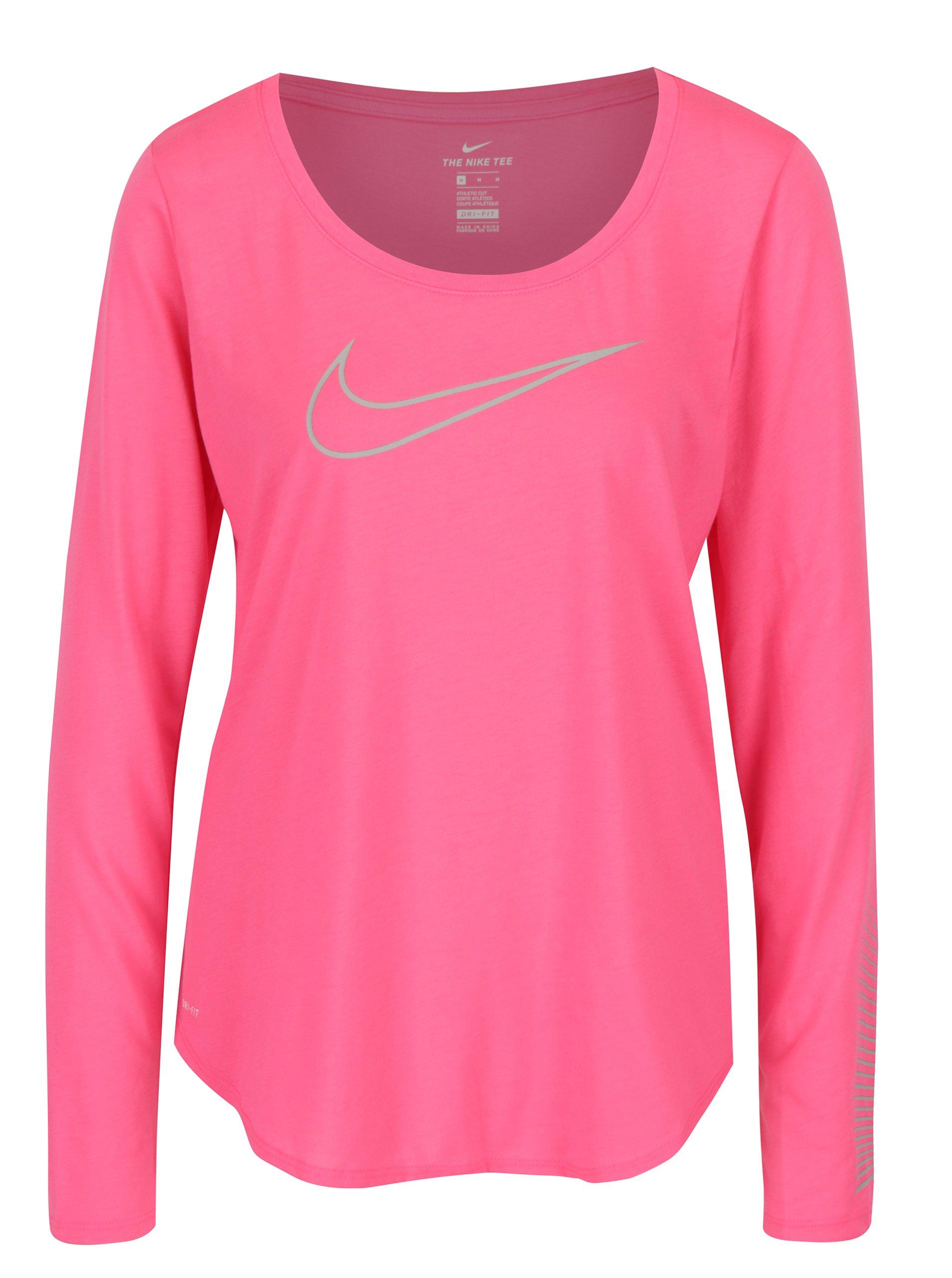 Růžové dámské funkční tričko s potiskem Nike