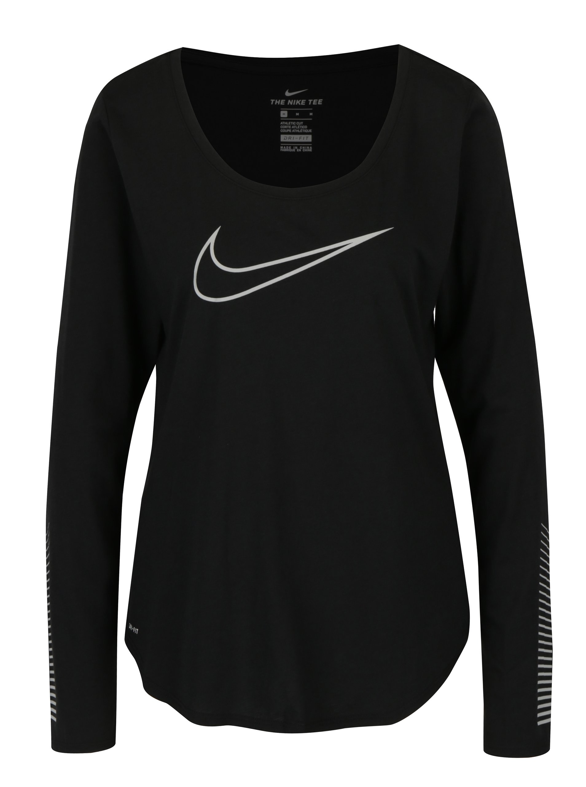 Černé dámské funkřní tričko s dlouhým rukávem Nike