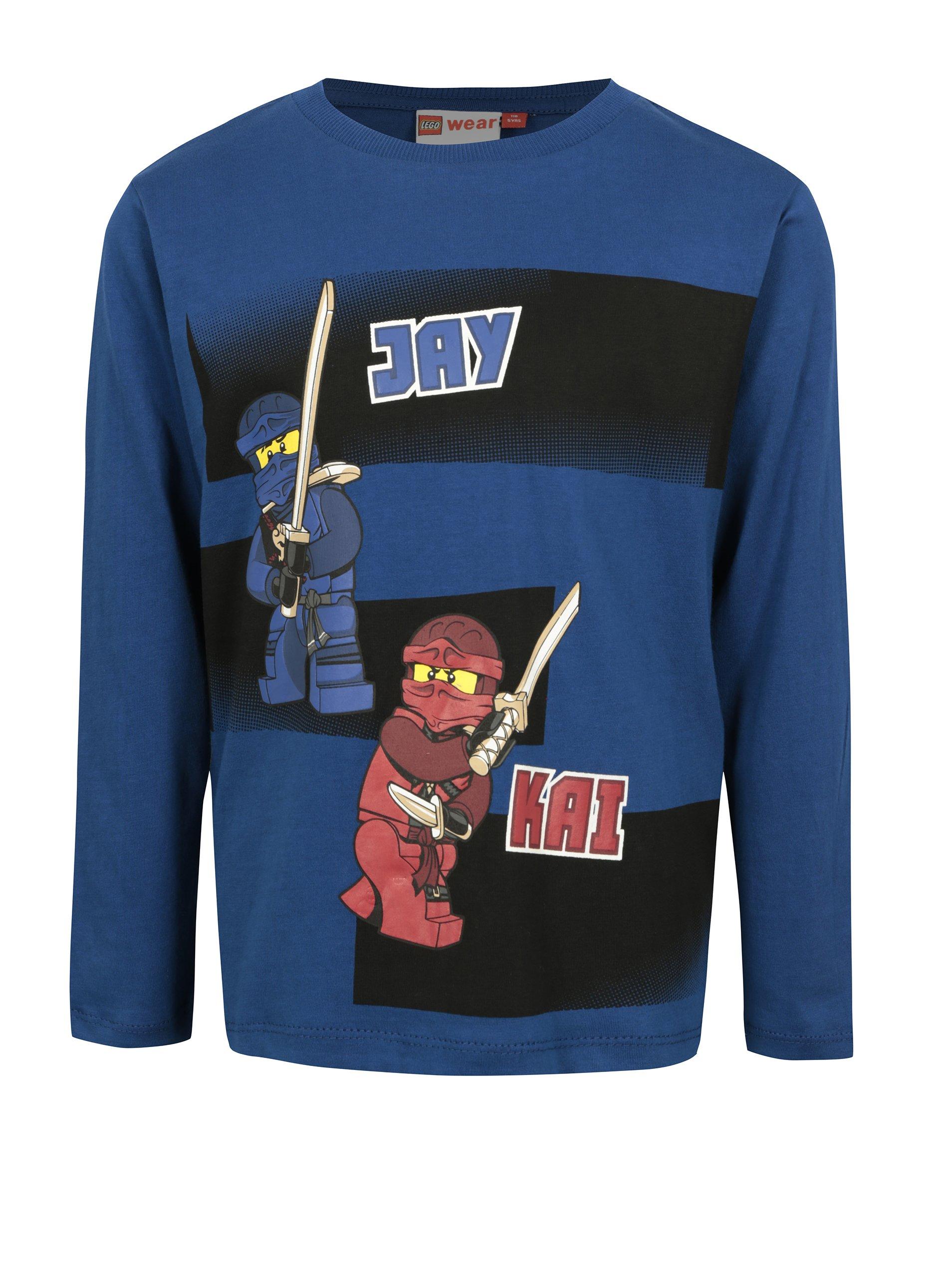 Tmavě modré klučičí tričko s potiskem Ninjago Lego Wear Teo