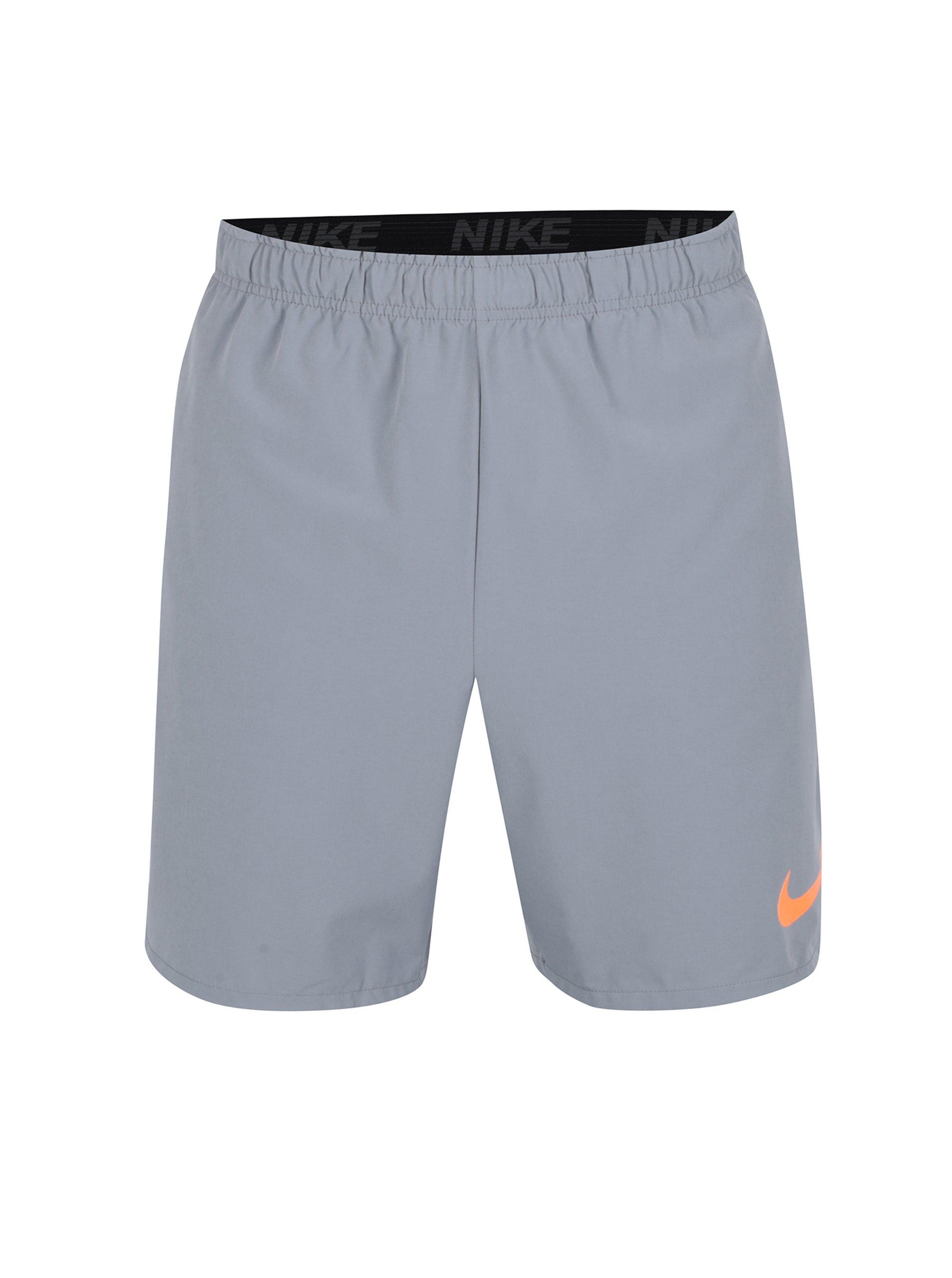 Šedé pánské funkční kraťasy Nike