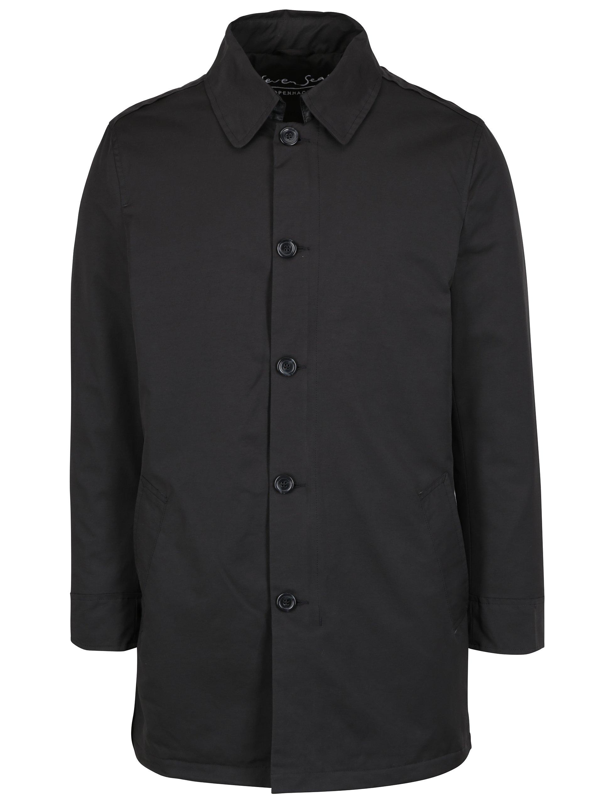 Černý kabát Seven Seas Oxford
