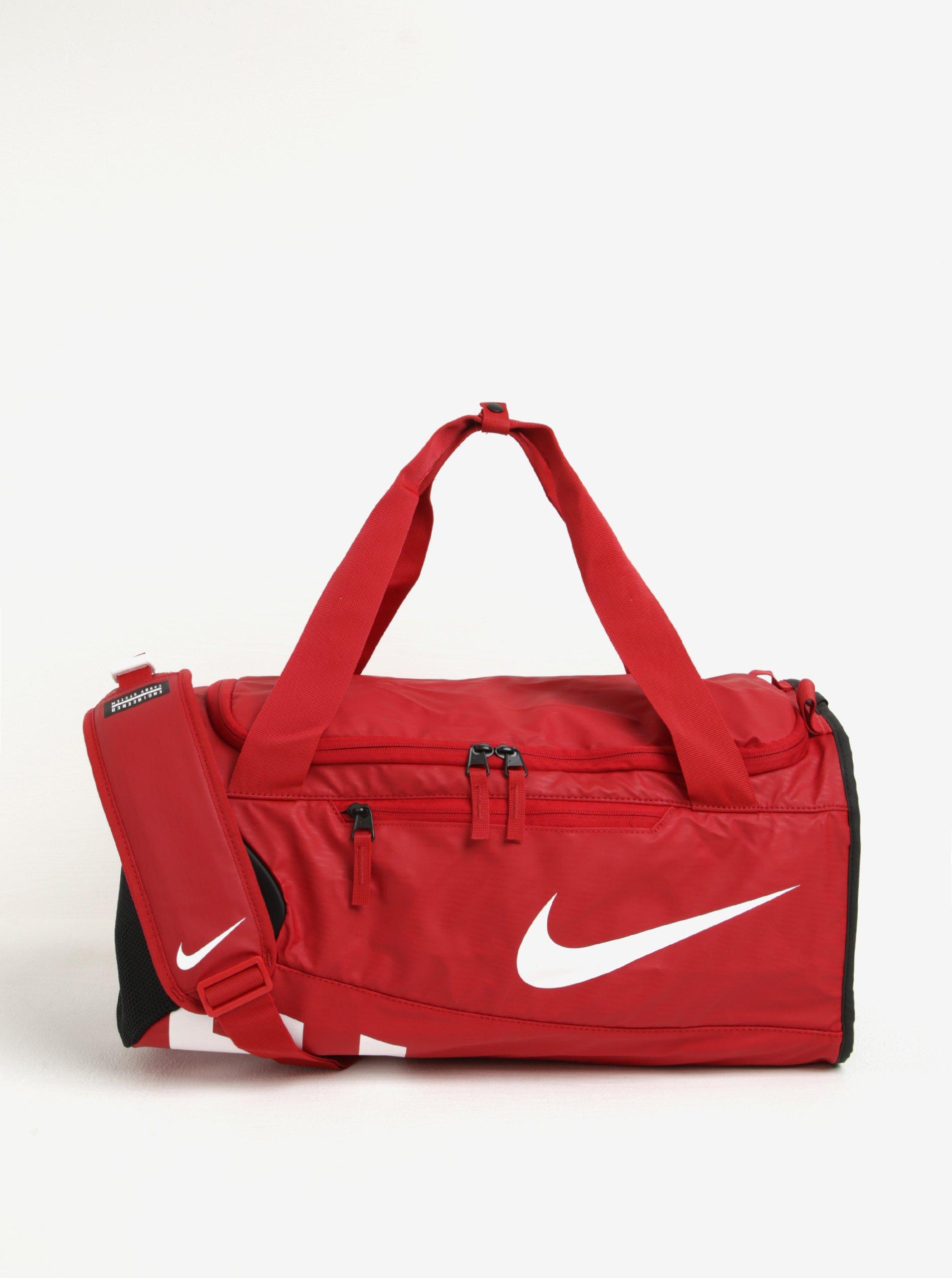 Červená voděodolná sportovní taška Nike Alpha Adapt 37 l