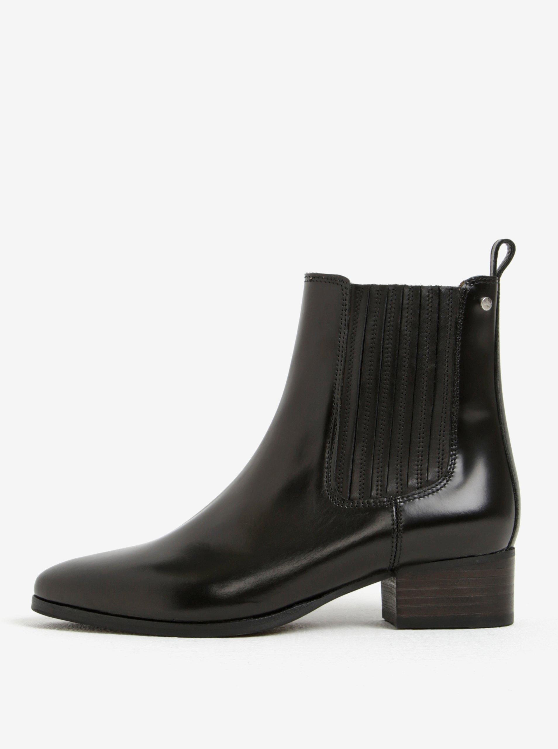 Černé dámské kožené chelsea boty GANT Linn