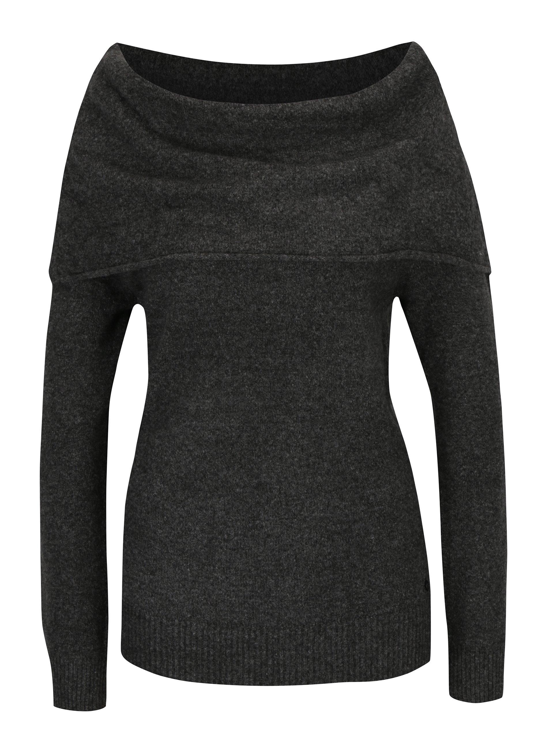 be265c27f8f Šedý dámský svetr s lodičkovým výstřihem Garcia Jeans
