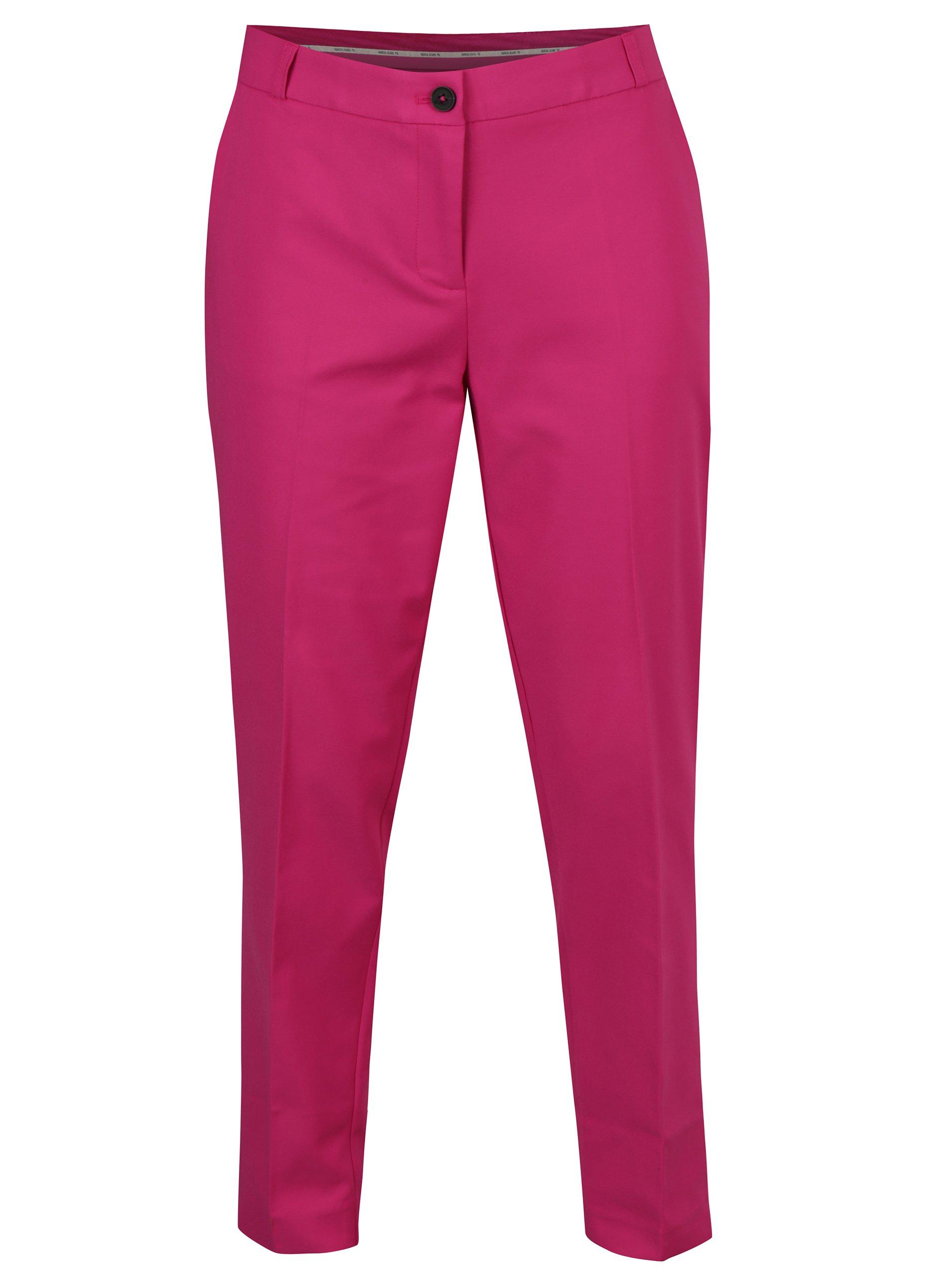 Fotografie Růžové dámské kalhoty s vysokým sedem Garcia Jeans