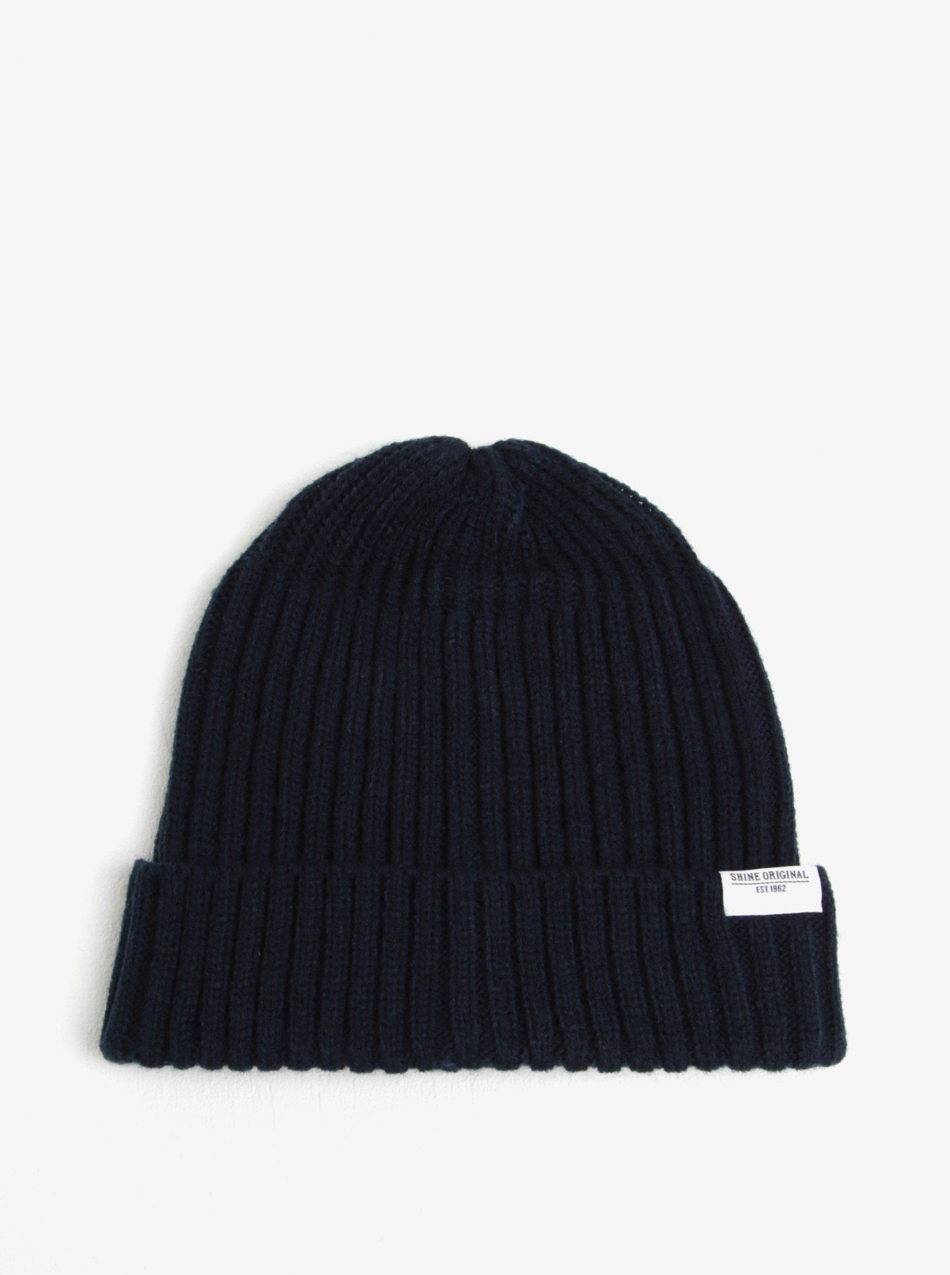 Tmavě modrá čepice Shine Original