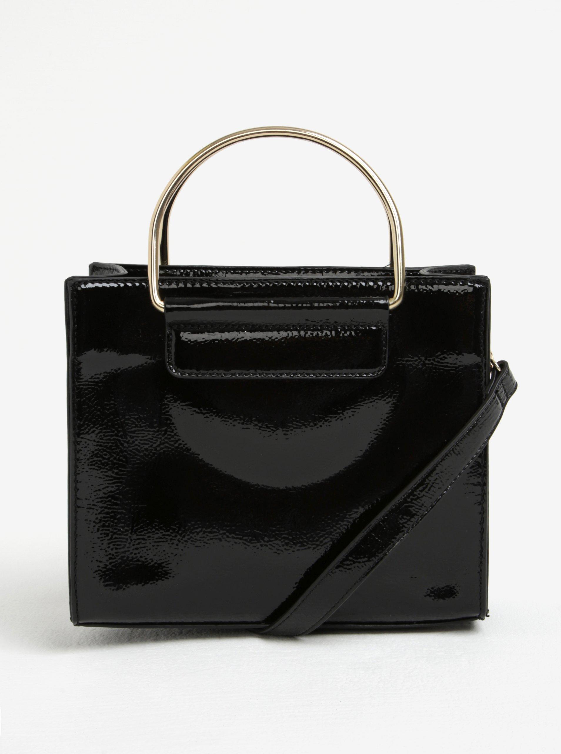 Černá lesklá kabelka Dorothy Perkins