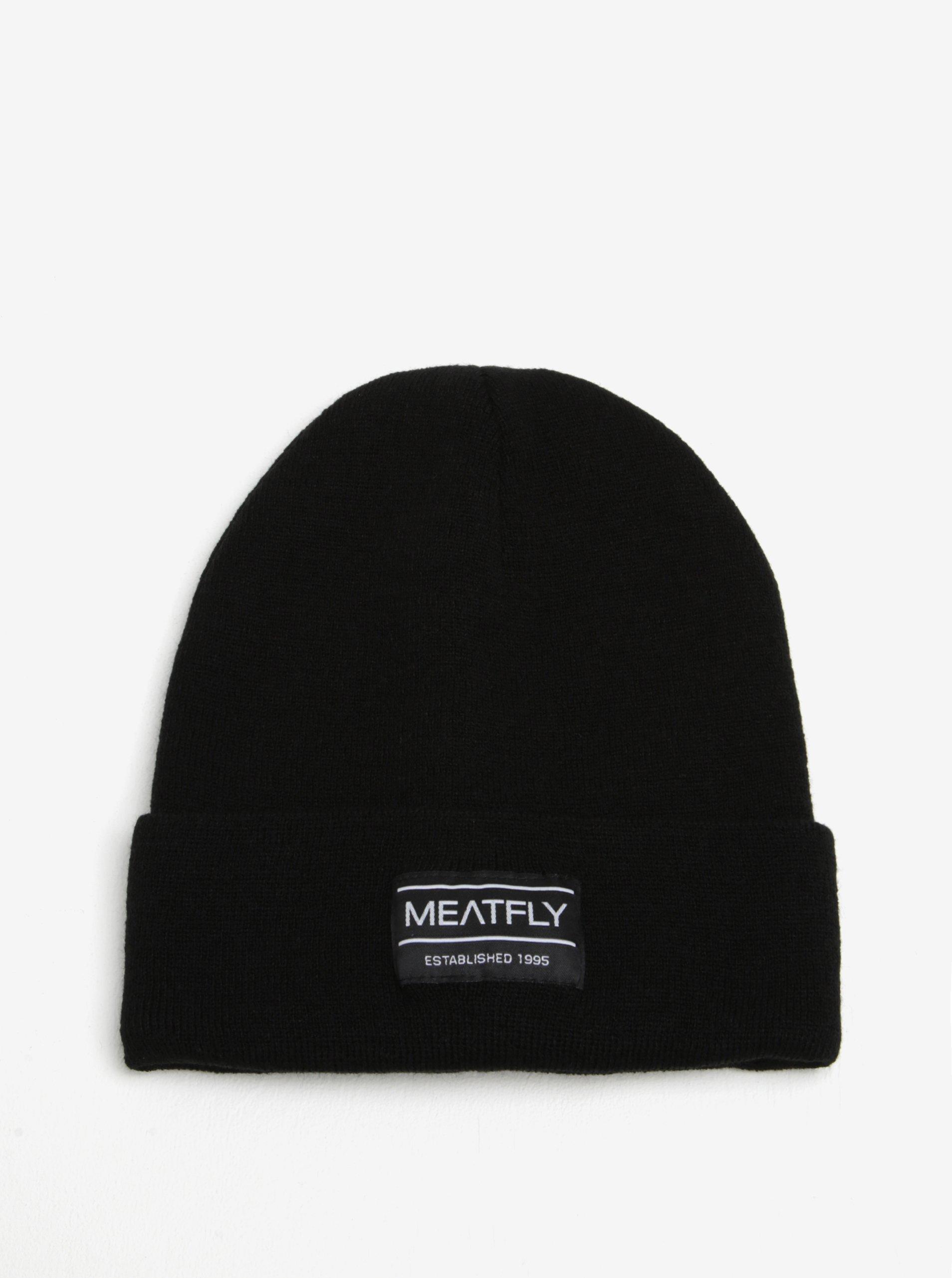 Černá pánská čepice MEATFLY Brady 2 Beanie