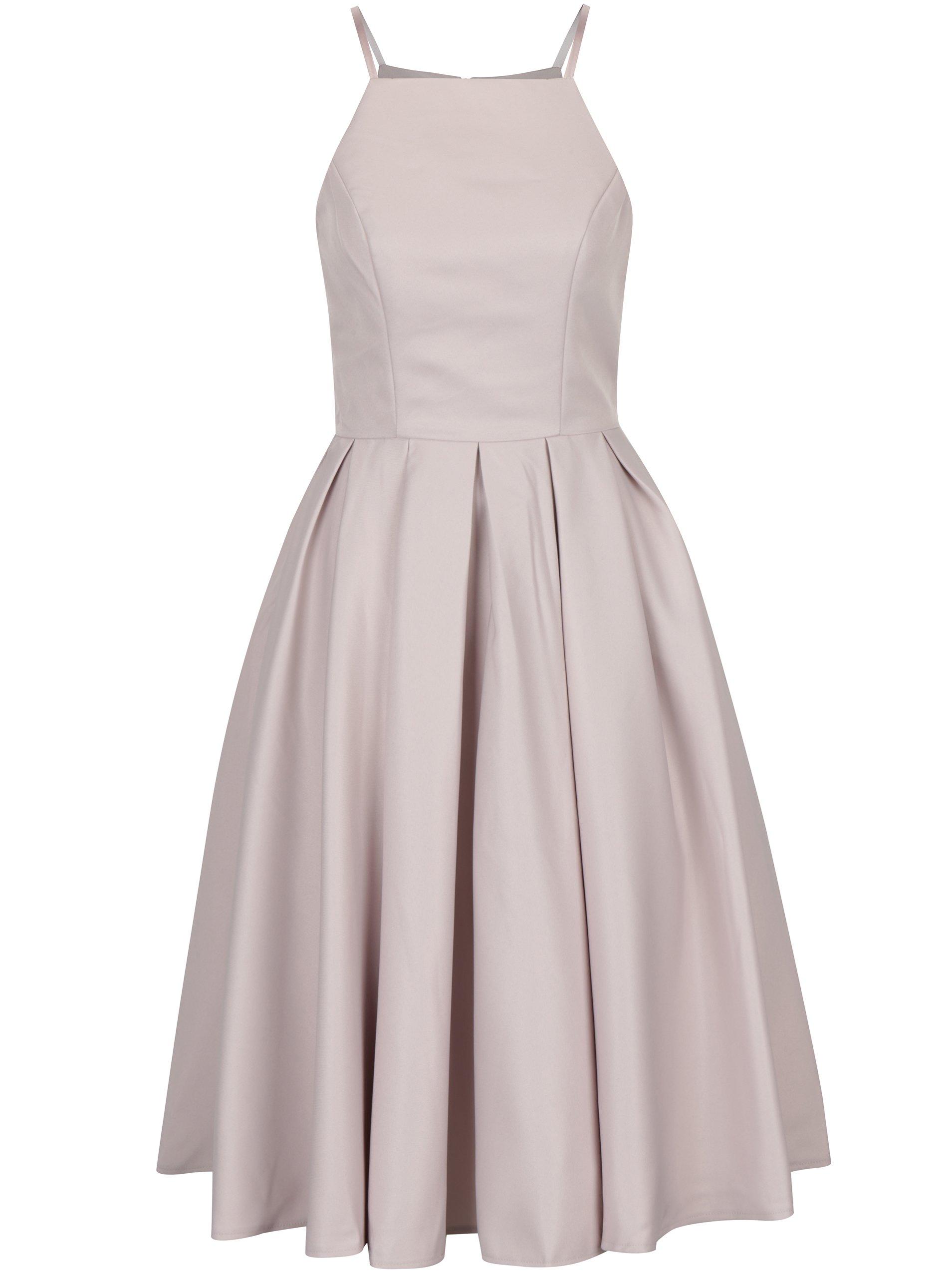 Starorůžové šaty na ramínka Chi Chi London Kia