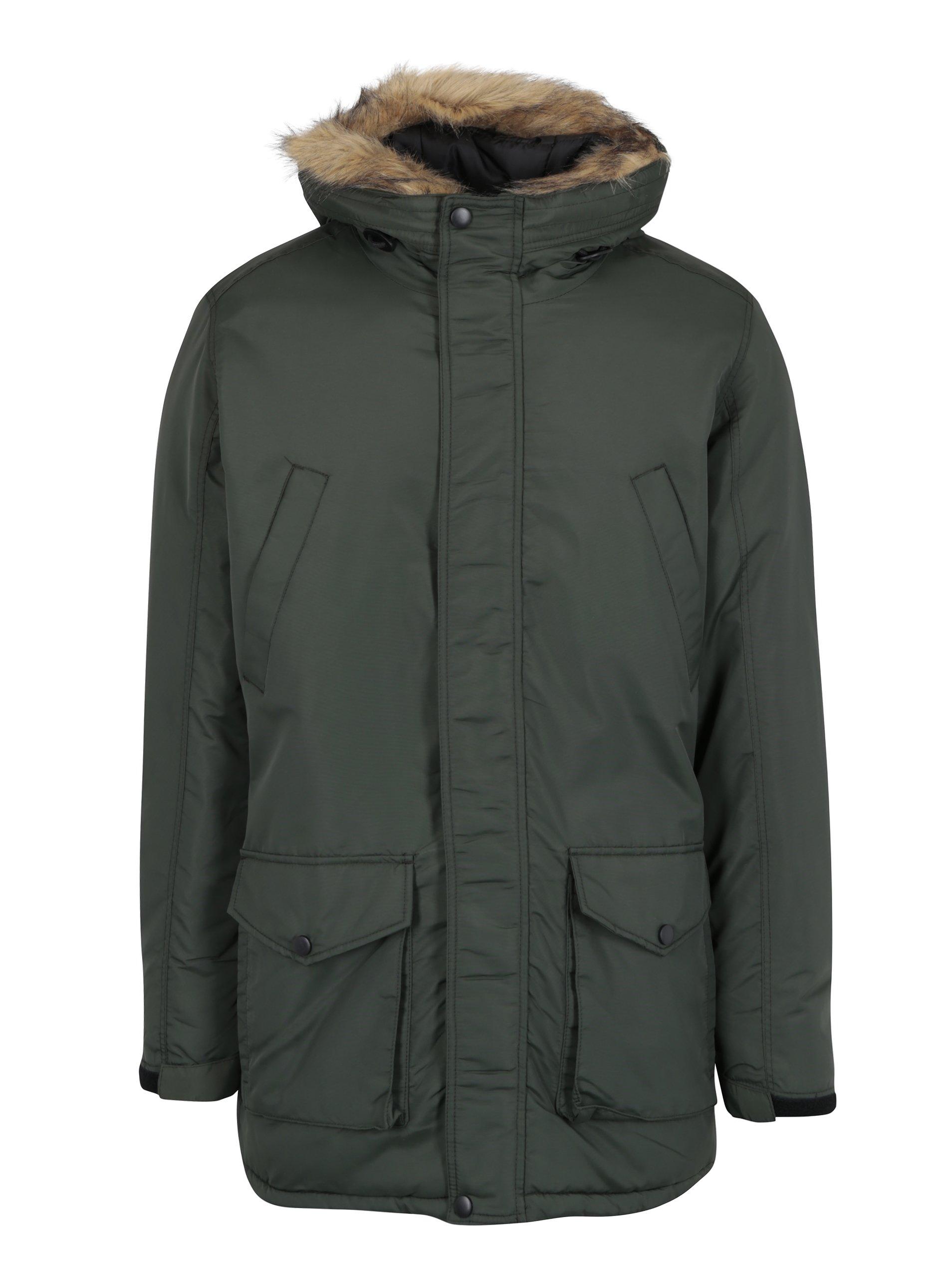 Tmavě zelená zimní bunda Shine Original
