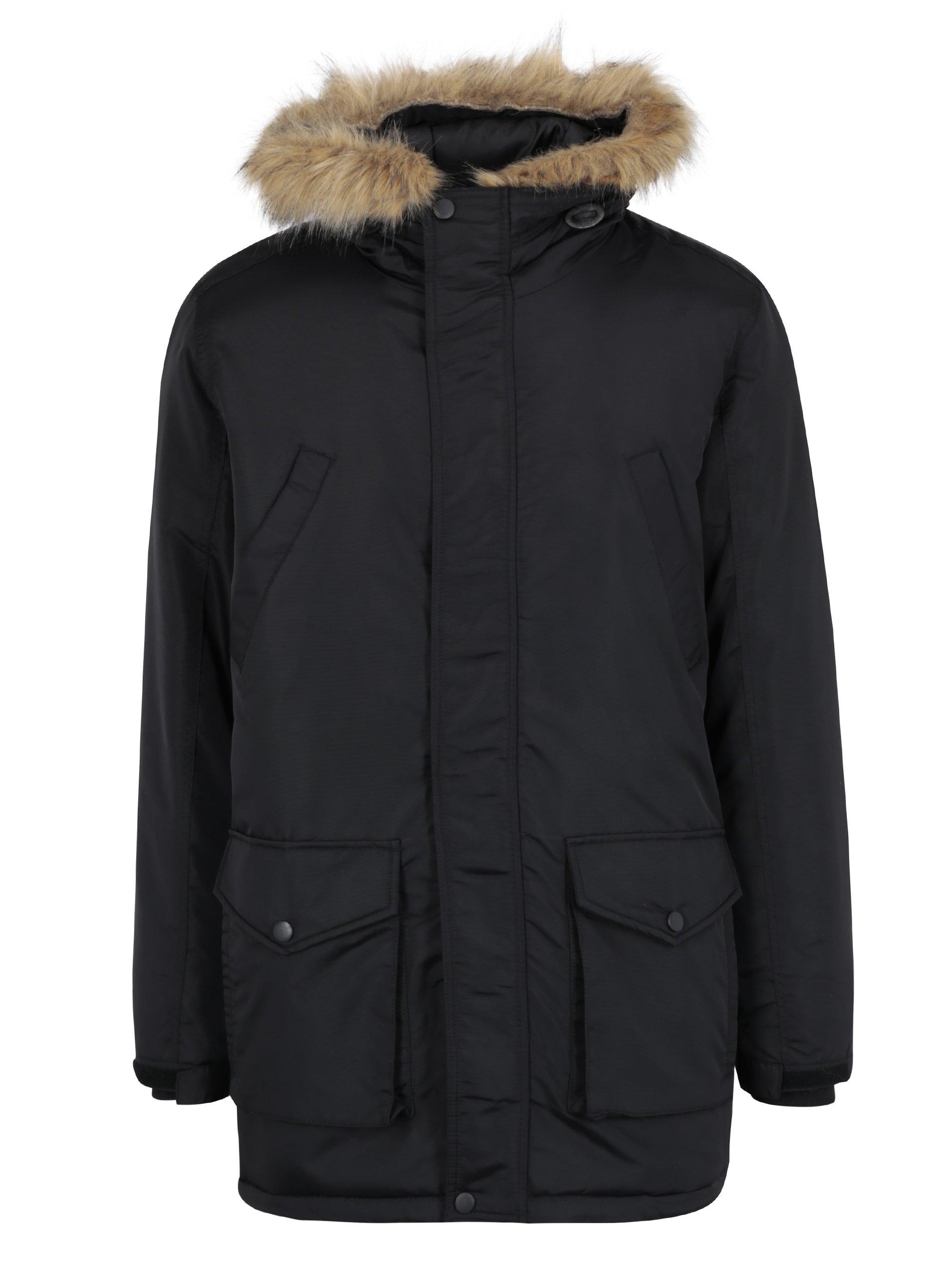 Čierna zimná bunda Shine Original