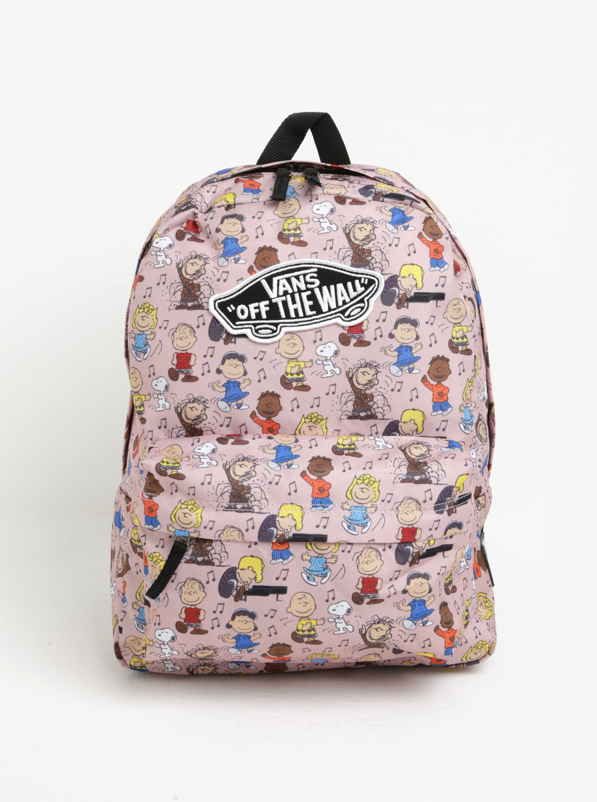 15fbf5ec708 Růžový vzorovaný batoh VANS Peanuts 22 l - SLEVA!