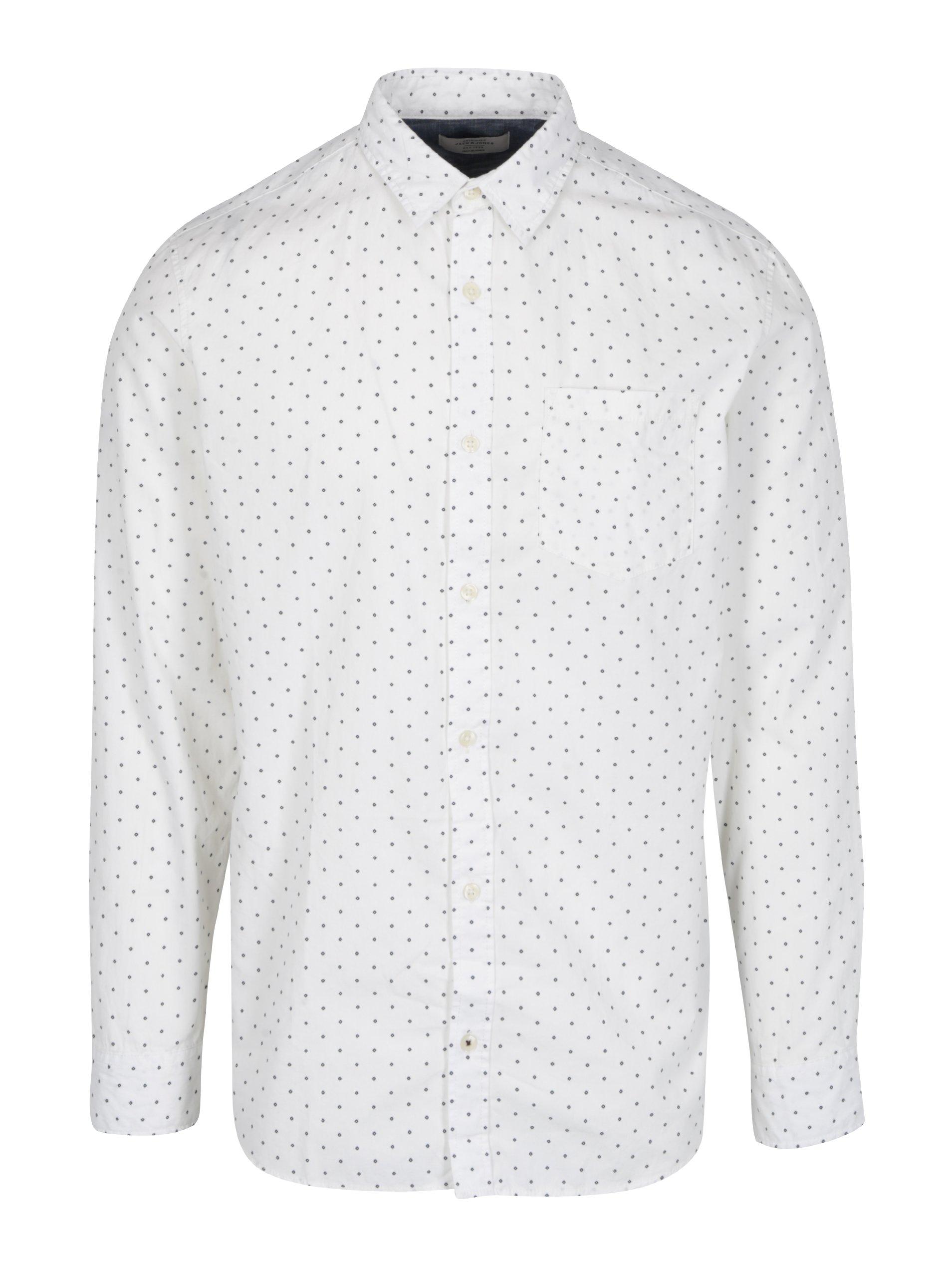 Krémová vzorovaná košile Jack & Jones Originals Simon